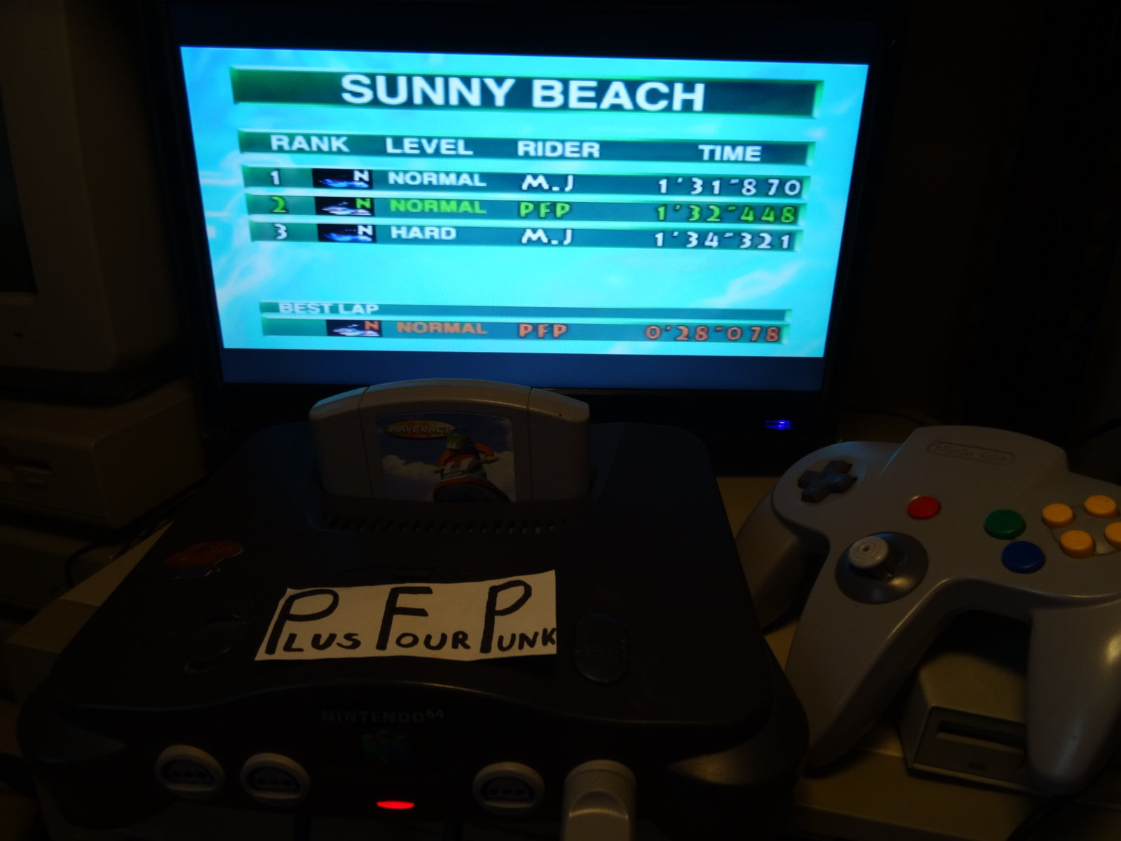 plus4punk: Wave Race: Sunny Beach [Time Trial] [Normal] (N64) 0:01:32.448 points on 2020-03-06 09:37:28