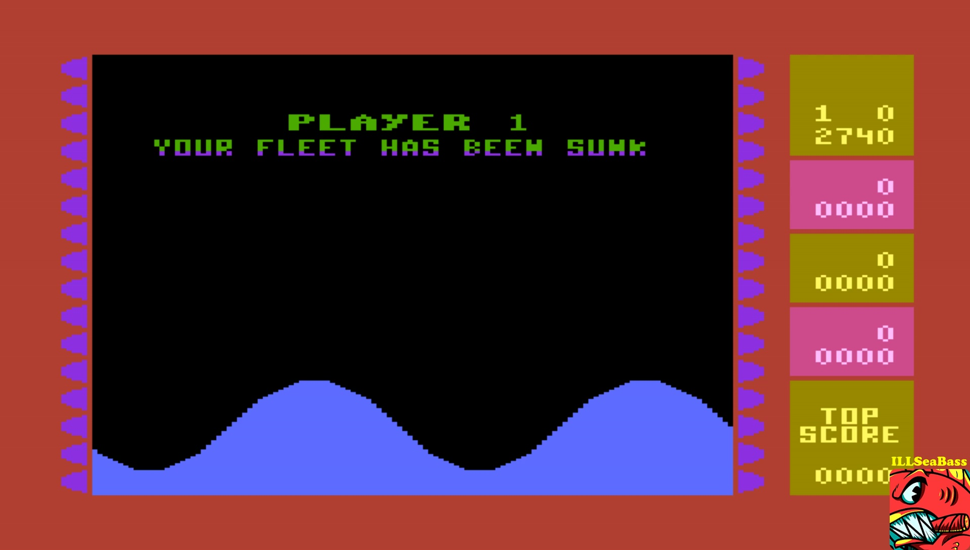 ILLSeaBass: Wavy Navy (Atari 400/800/XL/XE Emulated) 42,740 points on 2017-07-04 12:13:31