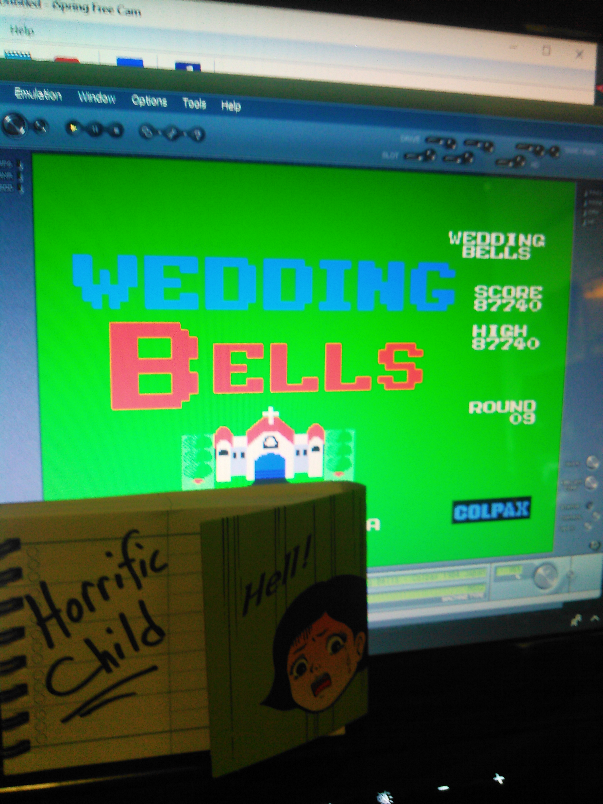 HorrificChild: Wedding Bells (MSX Emulated) 87,740 points on 2018-02-13 22:49:07