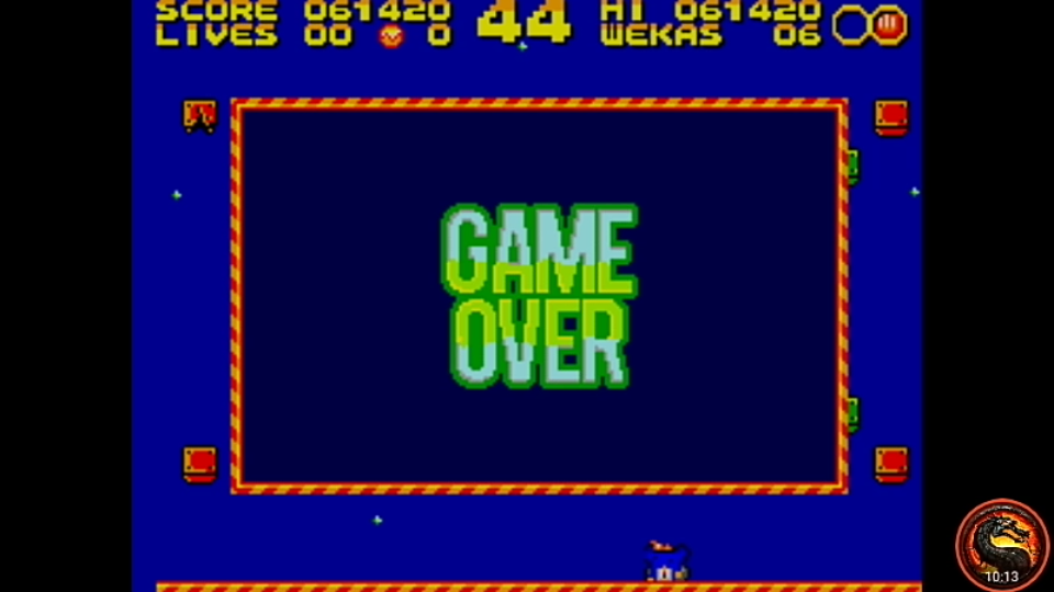 omargeddon: Weka Invaders (Sega Master System Emulated) 61,420 points on 2020-07-11 01:29:36
