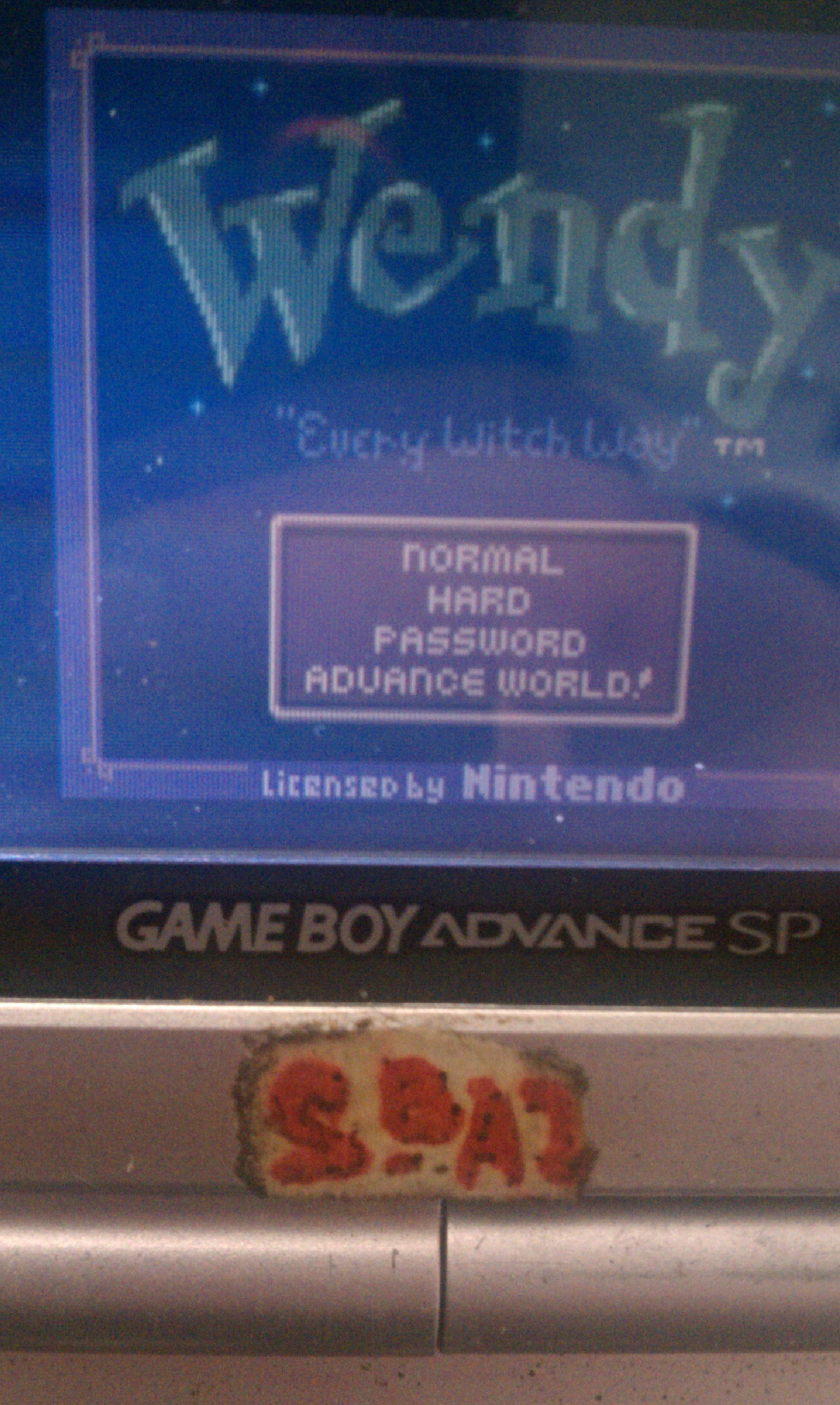 S.BAZ: Wendy: Every Witch Way [Normal] (Game Boy Color) 34,530 points on 2020-03-29 04:56:16