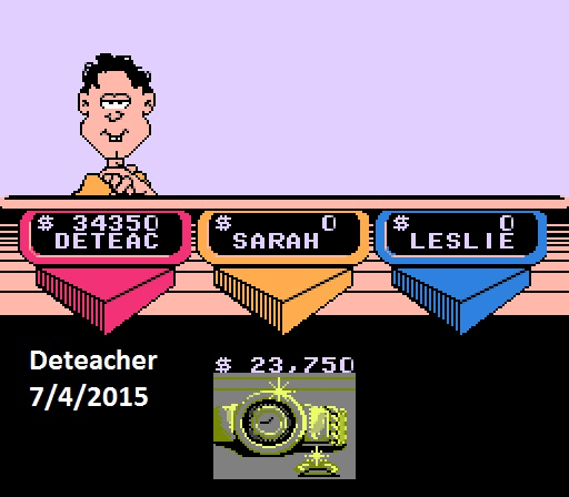 Deteacher: Wheel of Fortune Featuring Vanna White [Skill 1] (NES/Famicom Emulated) 34,350 points on 2015-07-04 14:49:09