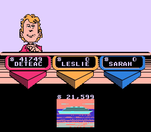 Deteacher: Wheel of Fortune Featuring Vanna White [Skill 3] (NES/Famicom Emulated) 41,749 points on 2015-07-11 19:17:19