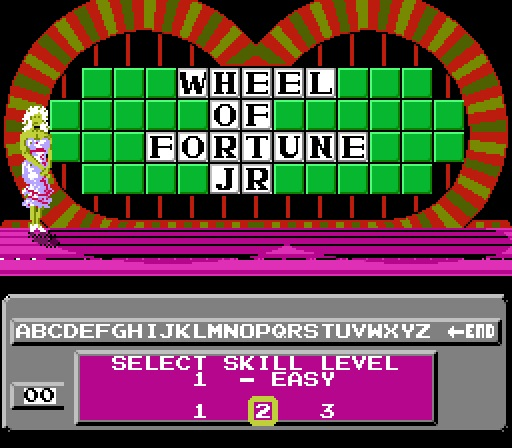 Deteacher: Wheel of Fortune: Junior Edition [Skill 2] (NES/Famicom Emulated) 4,500 points on 2015-07-05 13:18:50