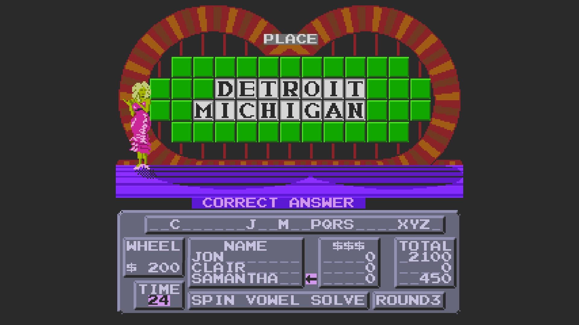 AkinNahtanoj: Wheel of Fortune [Skill 1] (NES/Famicom Emulated) 2,100 points on 2020-10-15 06:31:52