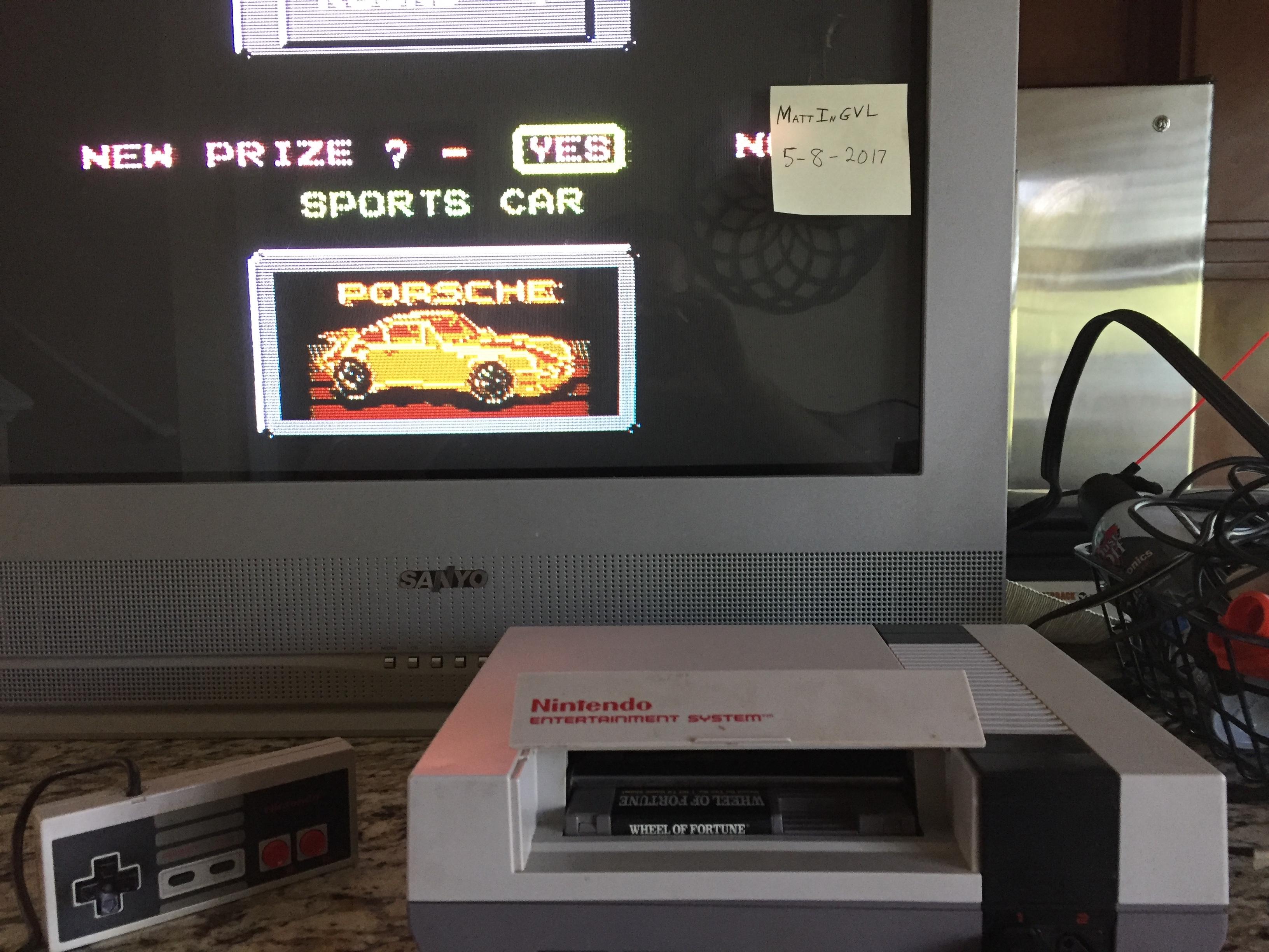 MattInGVL: Wheel of Fortune [Skill 1] (NES/Famicom) 11,100 points on 2017-05-09 16:54:35