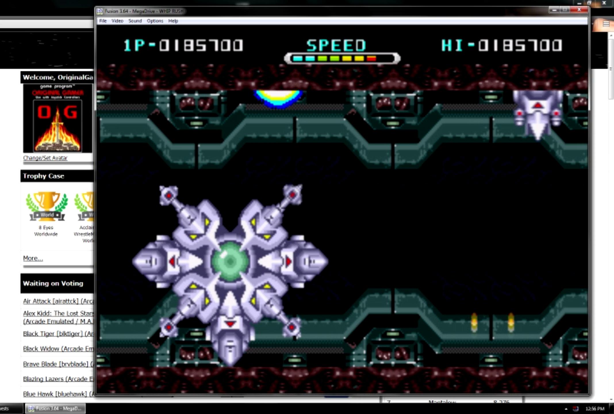 OriginalGamer: Whip Rush: Wakusei Voltegas no Nazo [Easy] (Sega Genesis / MegaDrive Emulated) 185,700 points on 2015-06-20 19:03:55