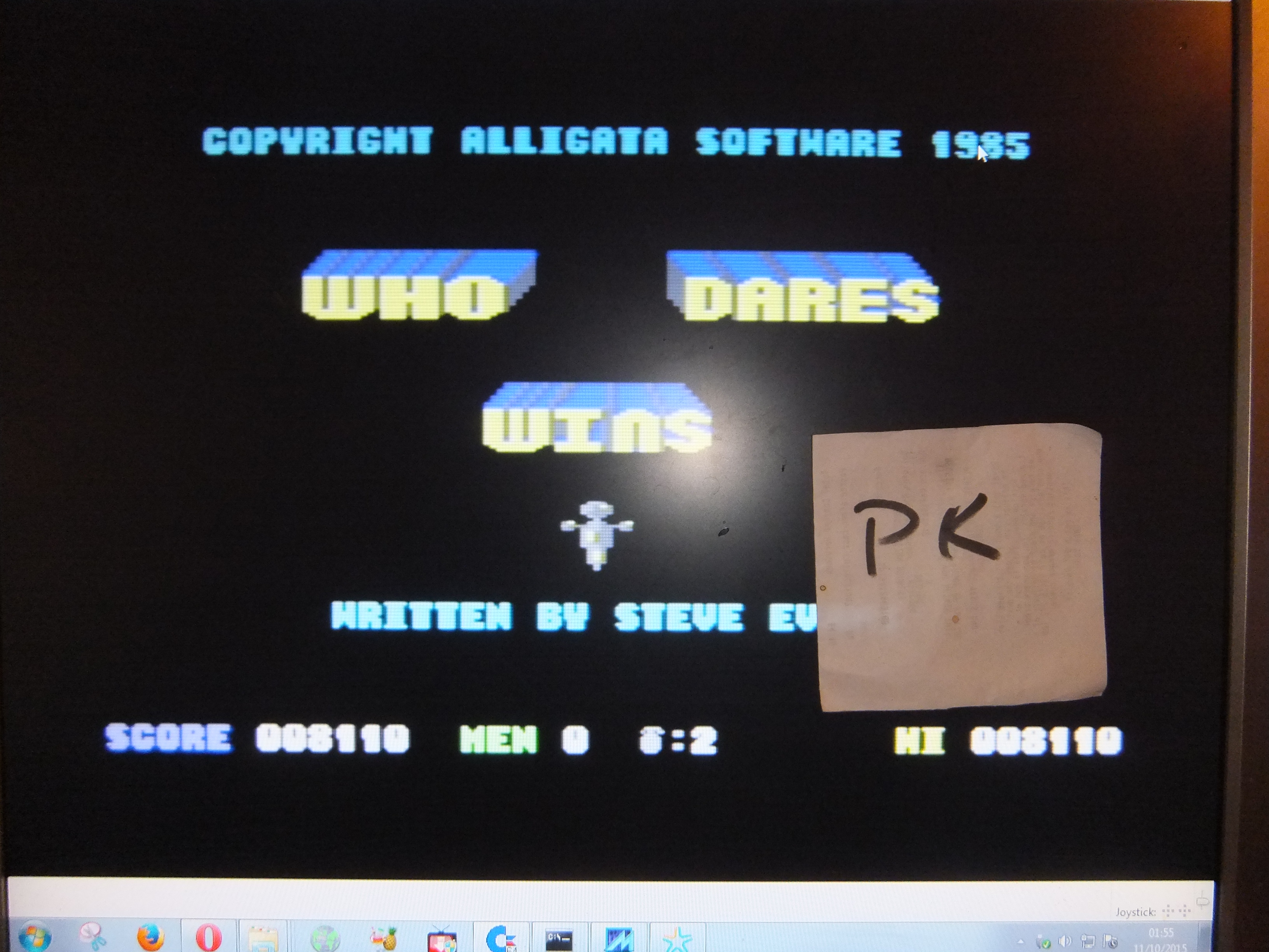 kernzy: Who Dares Wins (Commodore 64 Emulated) 8,110 points on 2015-10-10 19:58:18