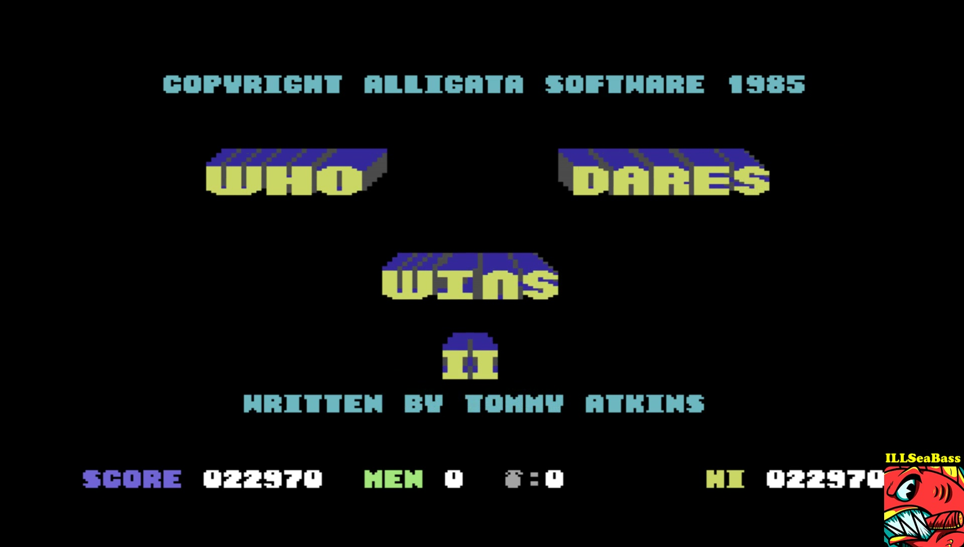 ILLSeaBass: Who Dares Wins II [Alligata] (Commodore 64 Emulated) 22,970 points on 2017-04-29 17:14:06