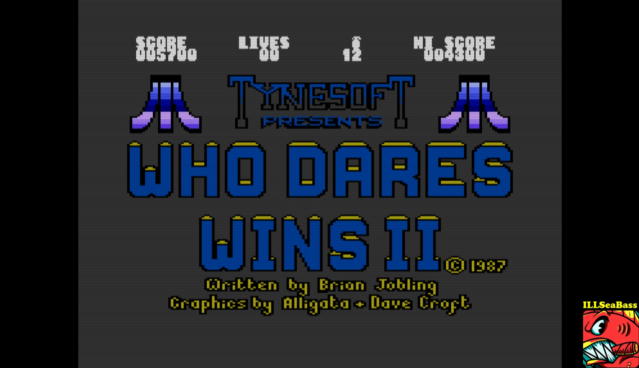 ILLSeaBass: Who Dares Wins II (Atari 400/800/XL/XE Emulated) 5,700 points on 2017-01-09 20:15:29