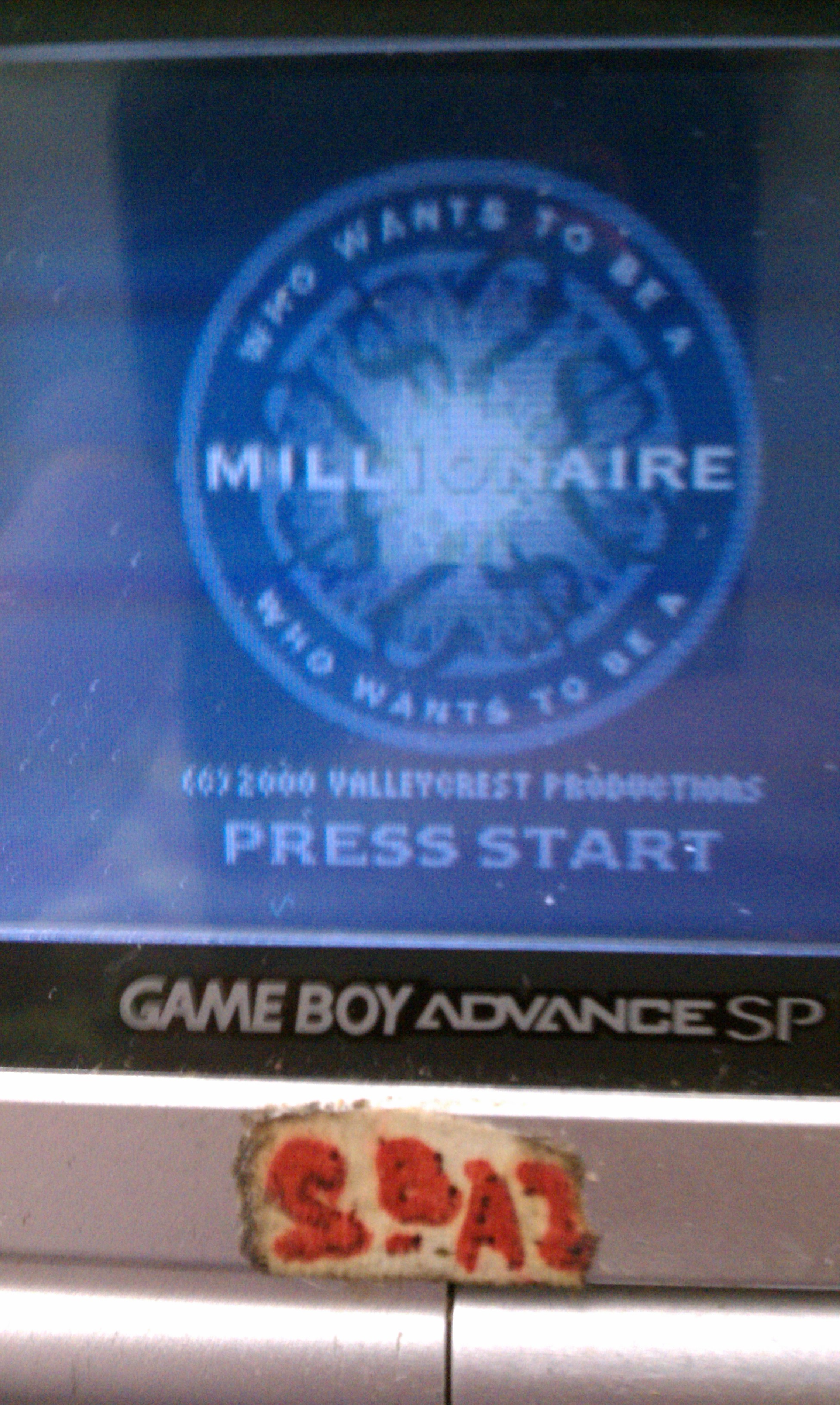 S.BAZ: Who Wants To Be A Millionaire? [Dollars] (Game Boy Color) 1,000 points on 2019-12-01 08:34:04