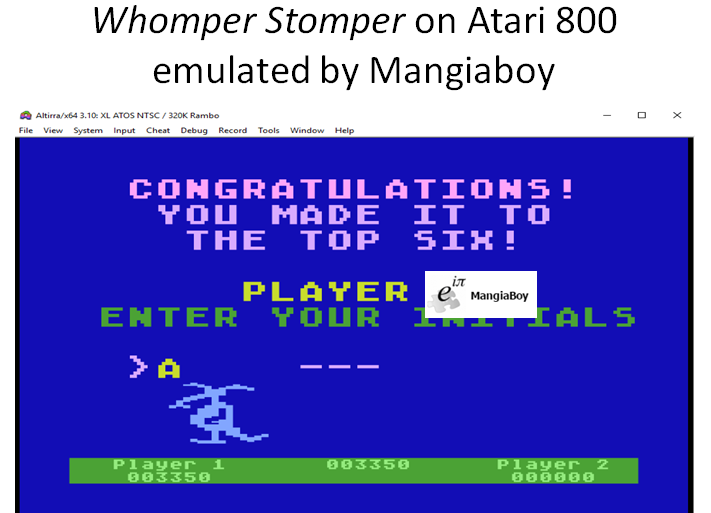 MangiaBoy: Whomper Stomper (Atari 400/800/XL/XE Emulated) 3,350 points on 2018-12-25 21:50:04