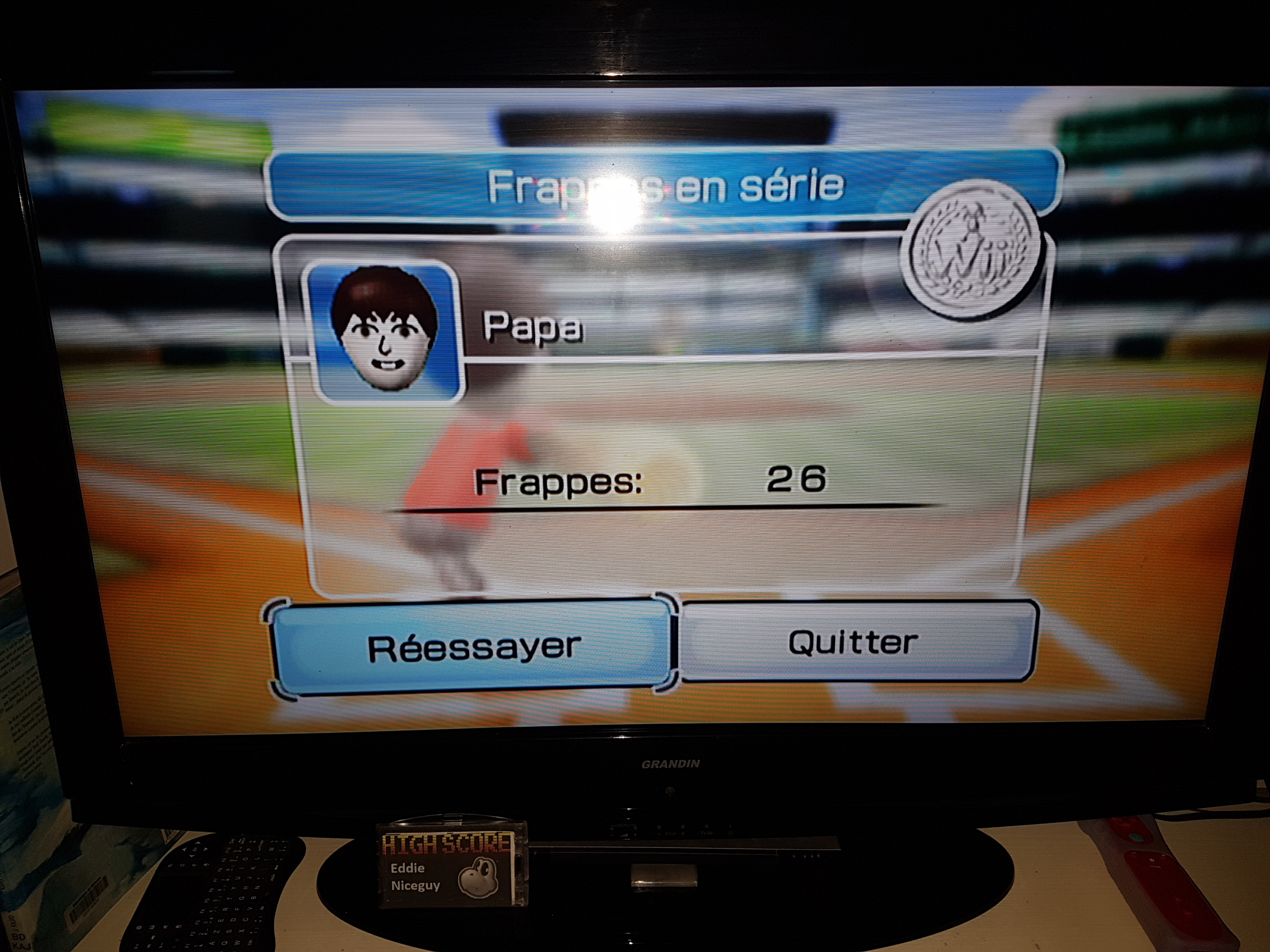EddieNiceguy: Wii Sports: Baseball [Batting Practice] (Wii) 26 points on 2019-06-15 14:35:15