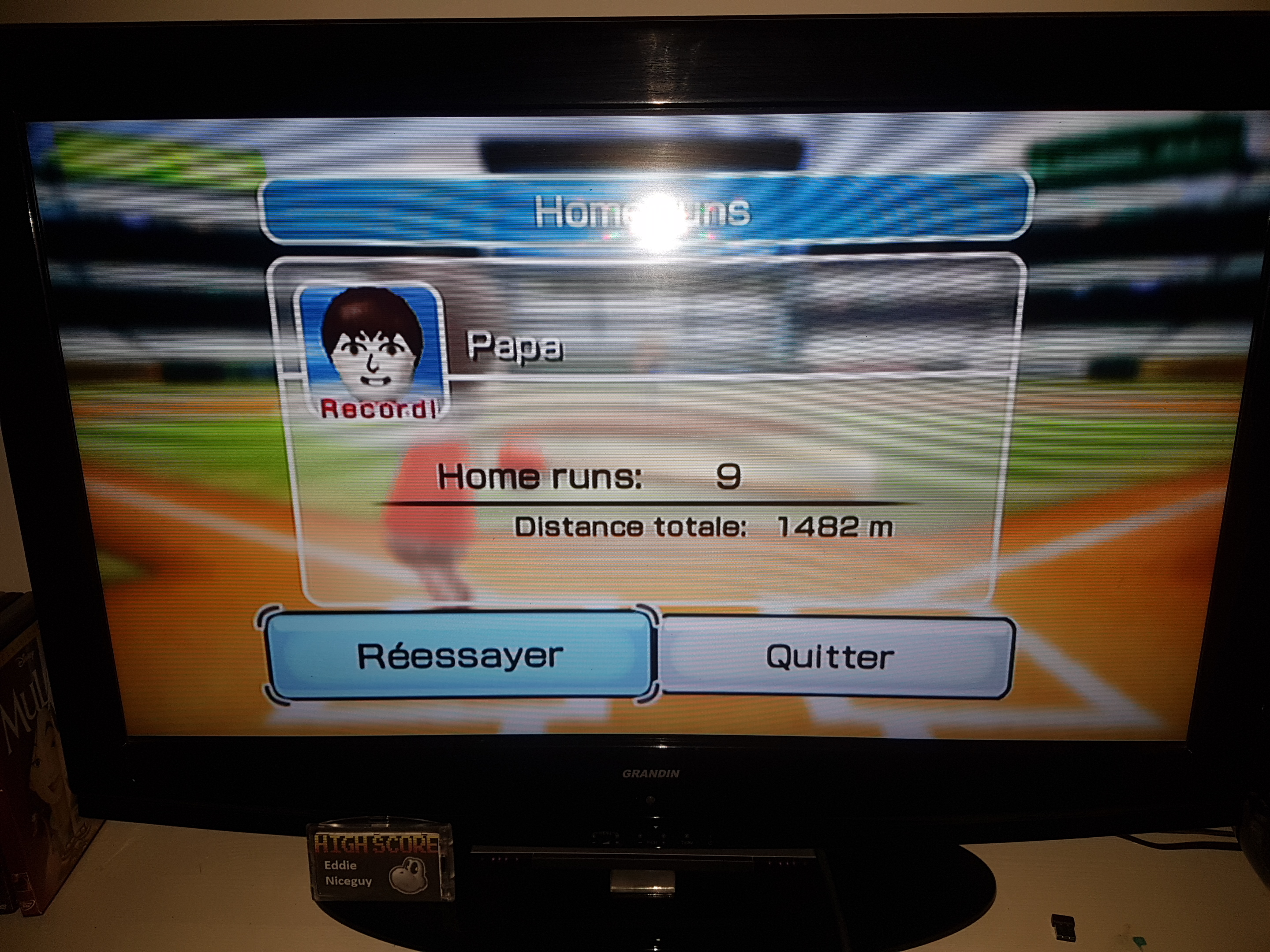 EddieNiceguy: Wii Sports: Baseball [Home Runs: Total Feet] (Wii) 4,862 points on 2019-06-08 02:07:01