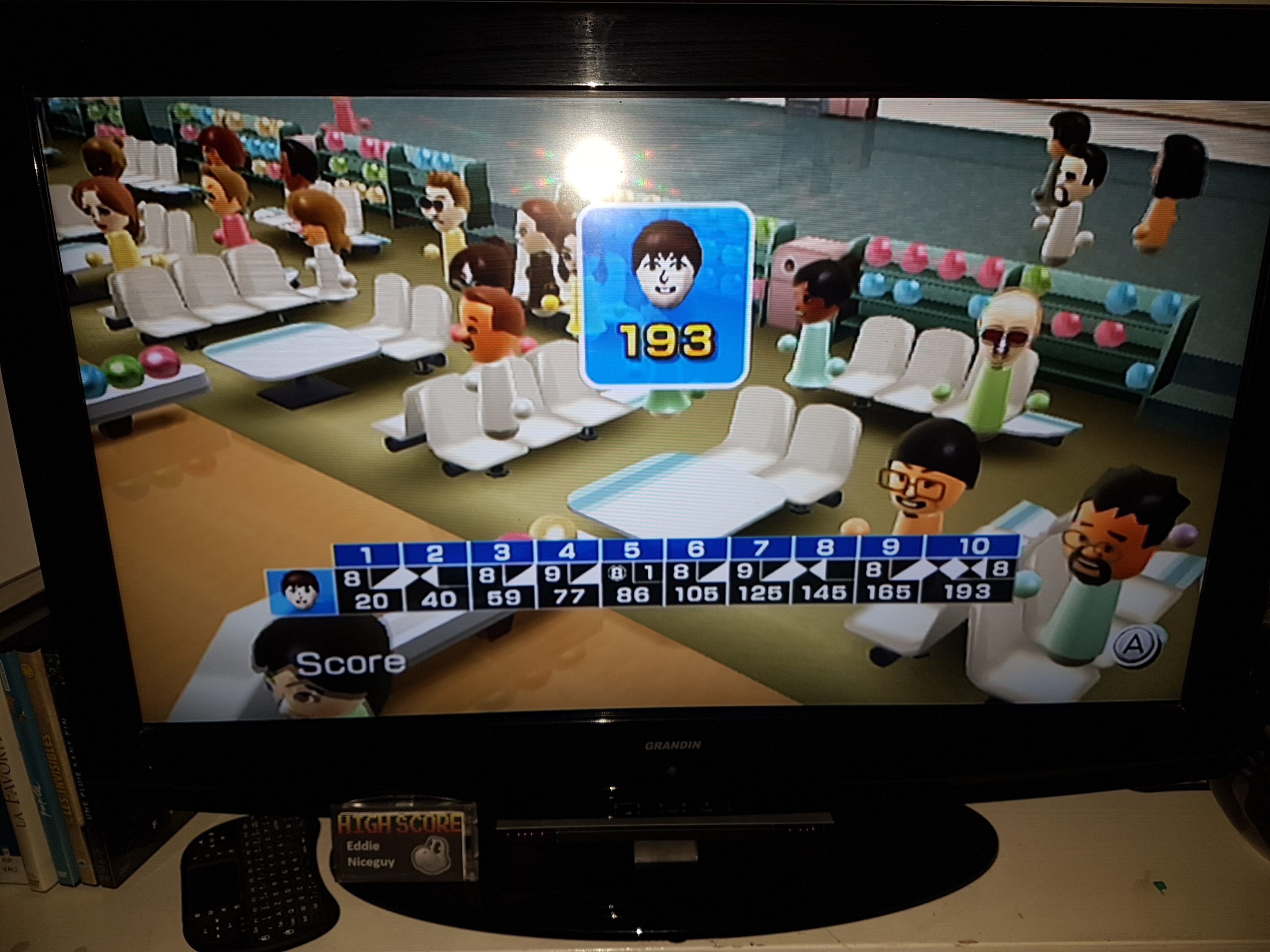 EddieNiceguy: Wii Sports: Bowling [Game Score] (Wii) 193 points on 2019-06-21 16:12:57