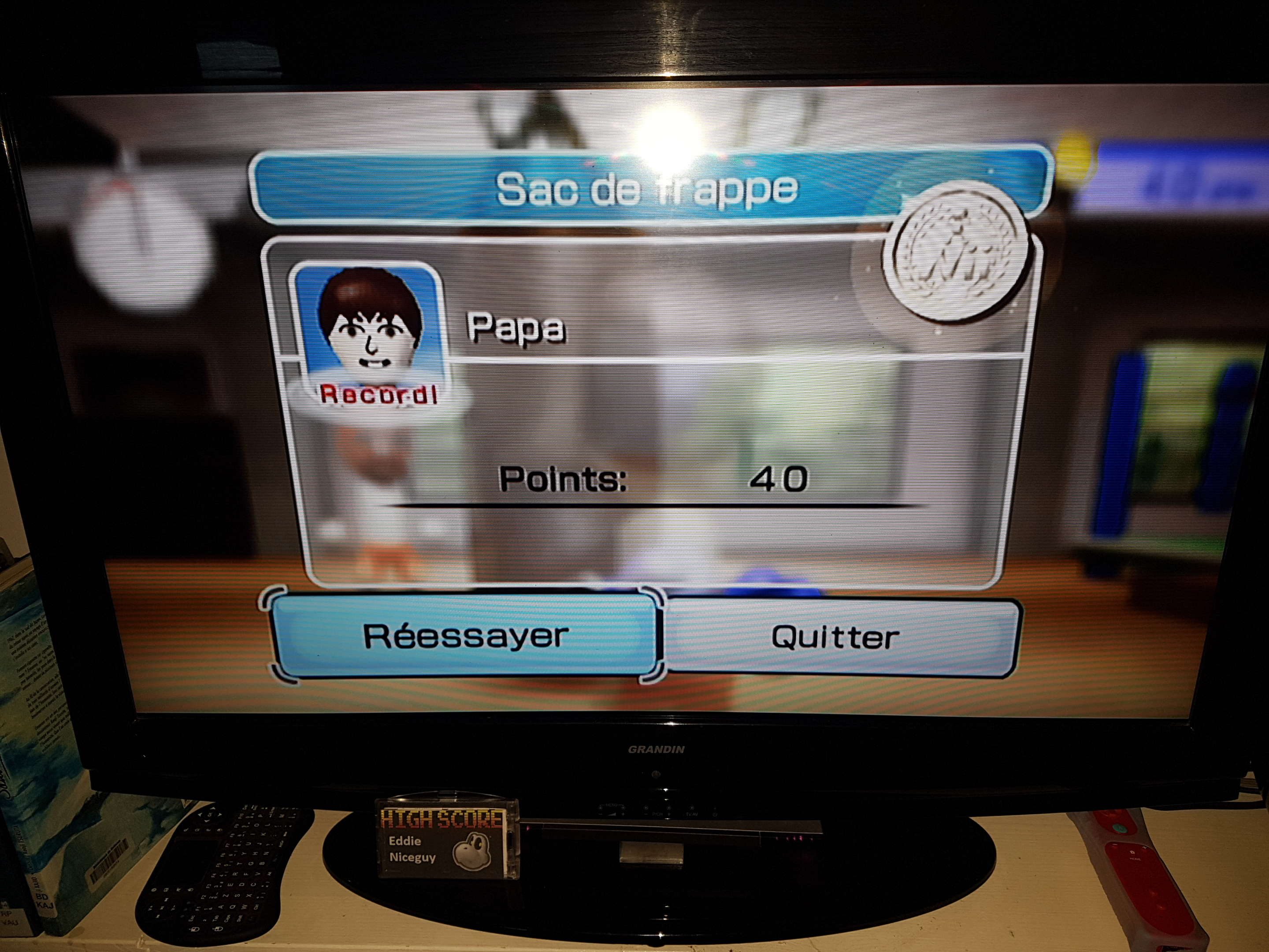 Wii Sports: Boxing [Working the Bag] 40 points