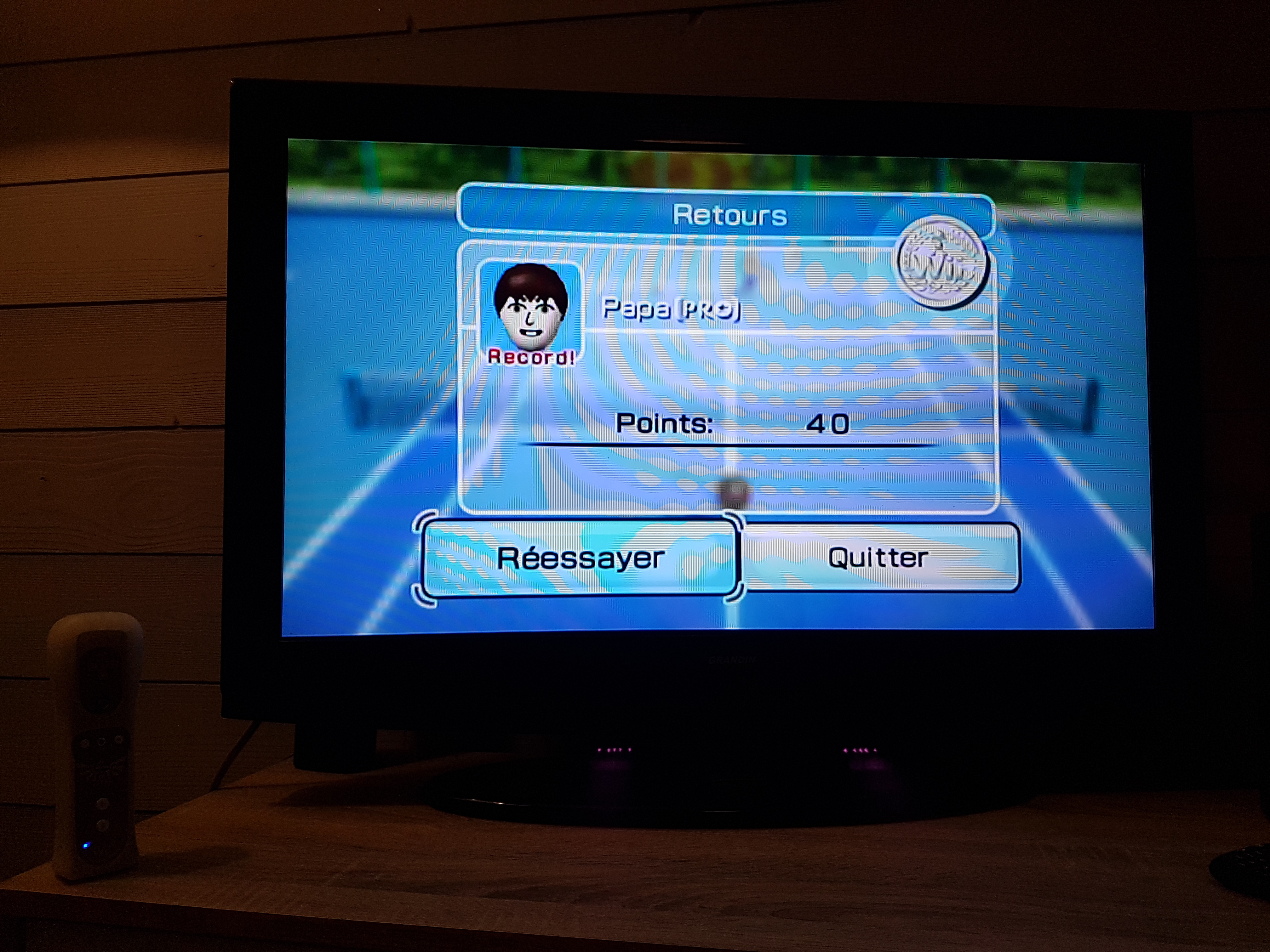 EddieNiceguy: Wii Sports: Tennis [Returning Balls] (Wii) 40 points on 2018-01-22 14:37:13