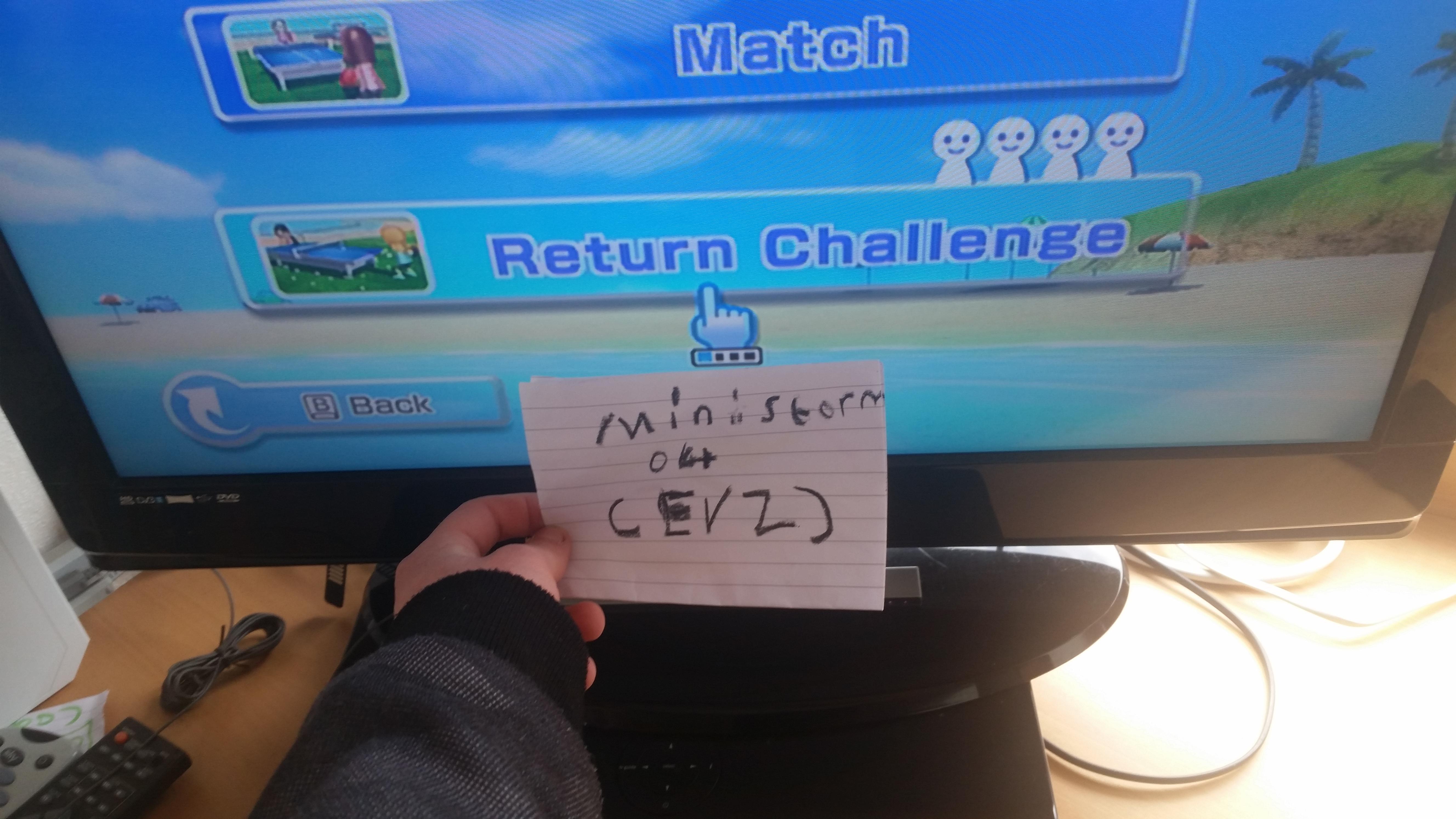 Wii Sports: Tennis [Returning Balls] 41 points