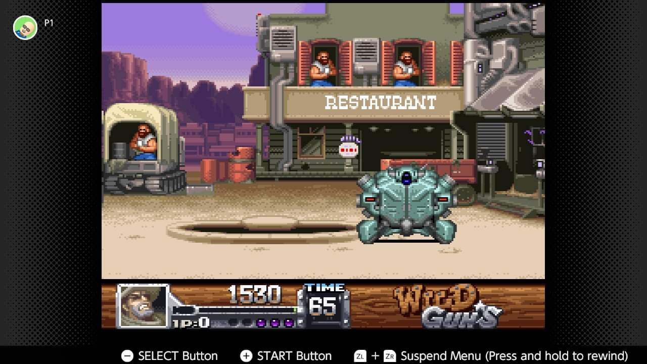 JML101582: Wild Guns (SNES/Super Famicom Emulated) 1,530 points on 2020-12-25 16:55:45