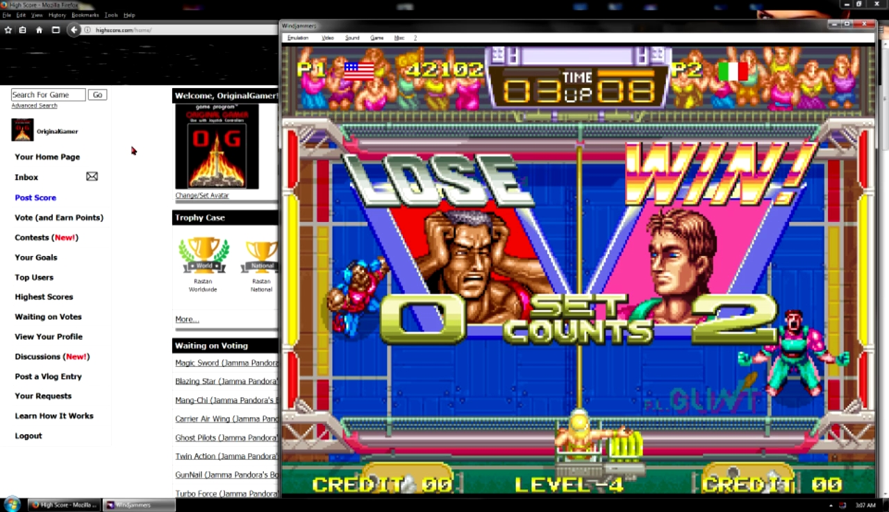 OriginalGamer: Windjammers (Neo Geo Emulated) 42,102 points on 2017-10-29 23:18:16