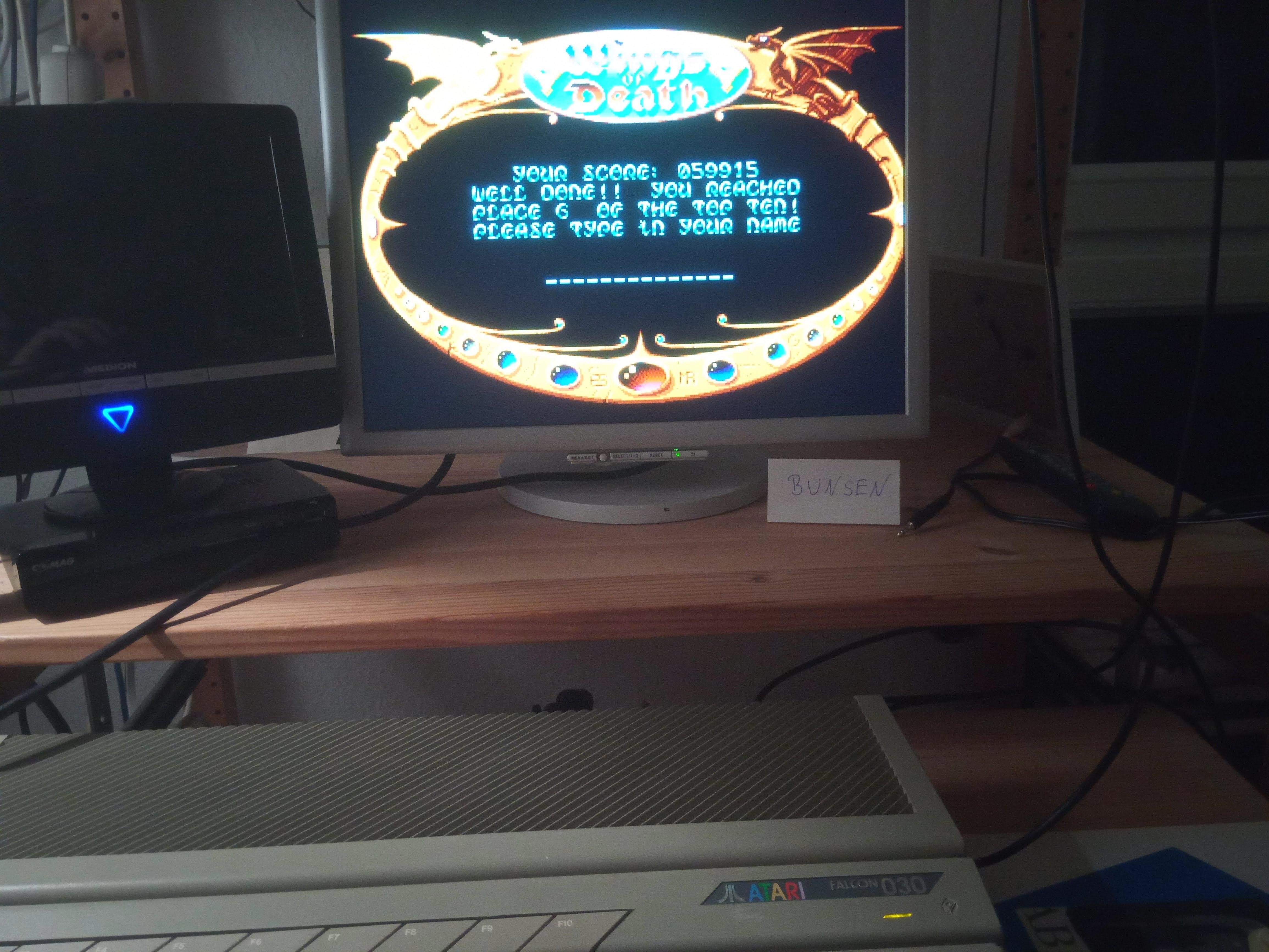 Bunsen: Wings of Death (Atari ST) 59,915 points on 2019-12-26 14:42:25
