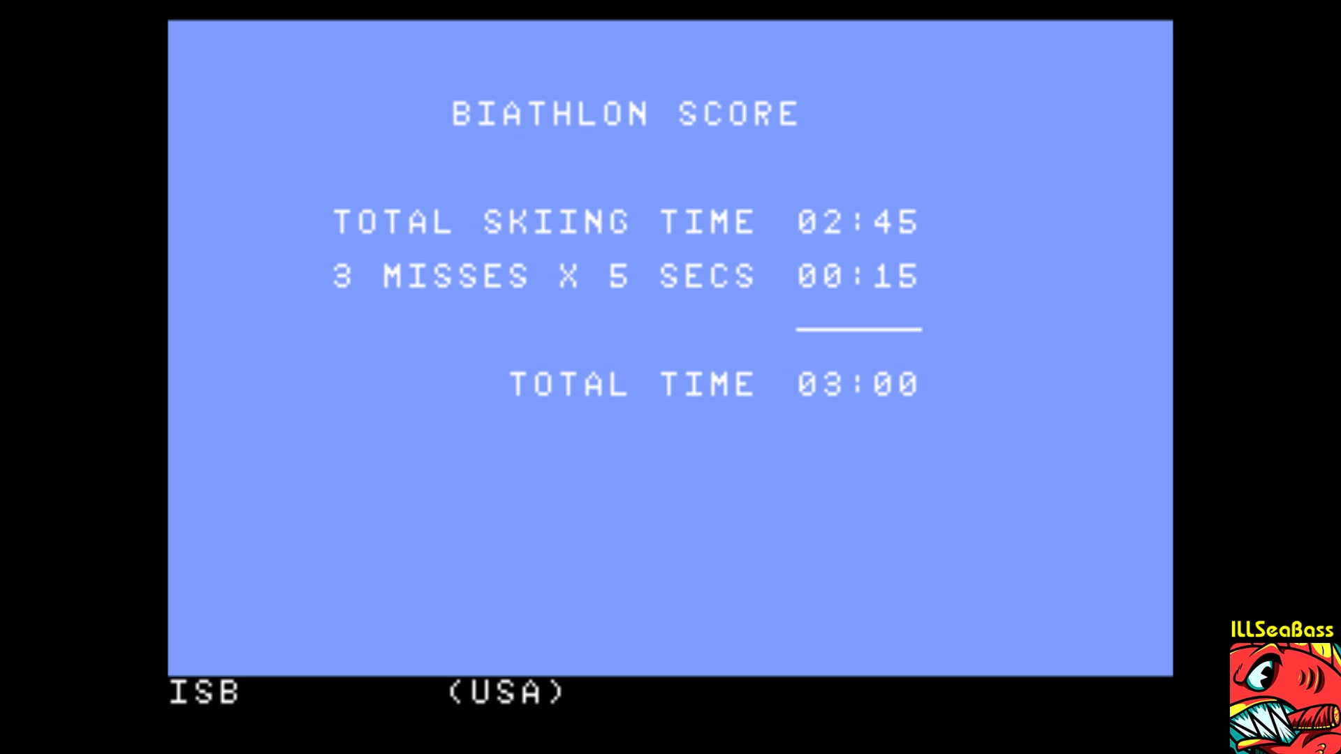 ILLSeaBass: Winter Games: Biathalon (Atari 7800 Emulated) 0:03:00 points on 2017-11-06 09:46:03