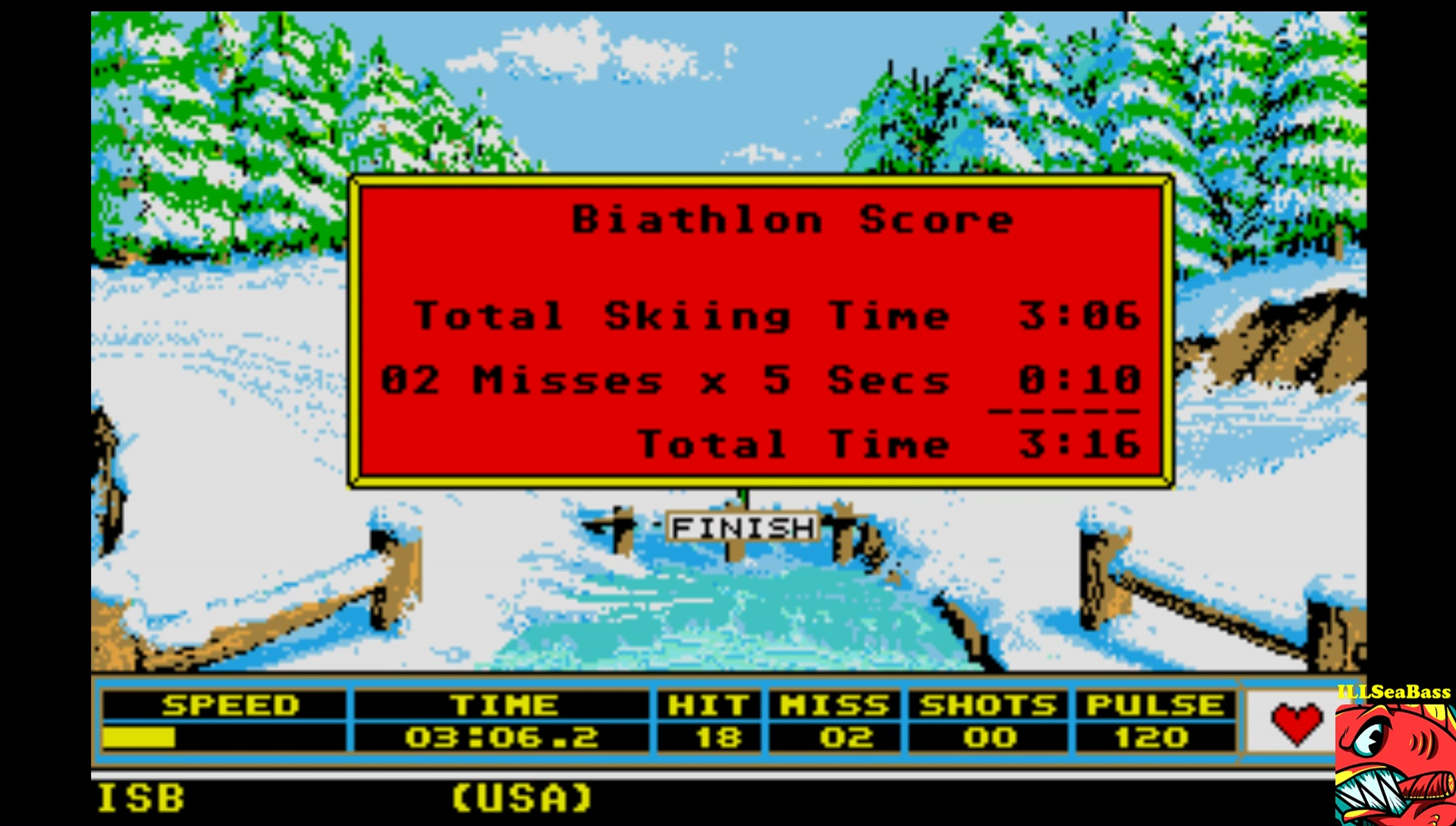 ILLSeaBass: Winter Games: Biathlon (Atari ST Emulated) 0:03:16 points on 2017-03-05 01:06:02