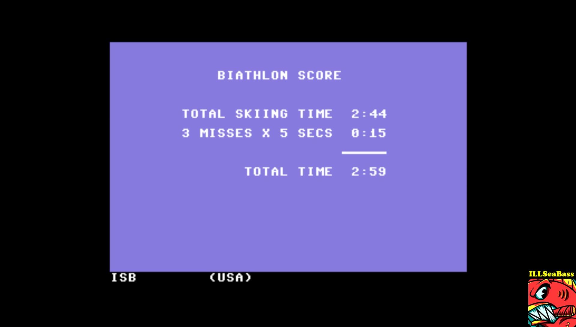 Winter Games: Biathlon time of 0:02:59