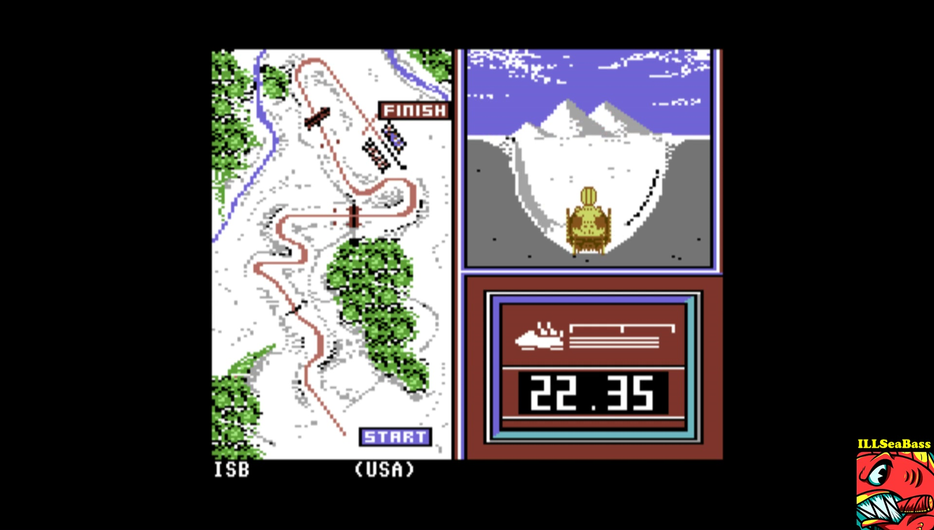 Winter Games: Bob Sled time of 0:00:22.35