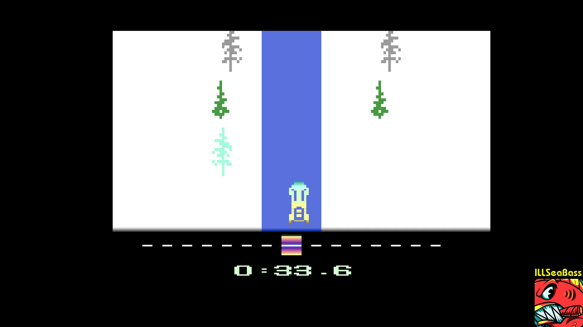 ILLSeaBass: Winter Games: Bobsled [Best Time] (Atari 2600 Emulated) 0:00:33.6 points on 2017-12-29 12:34:38