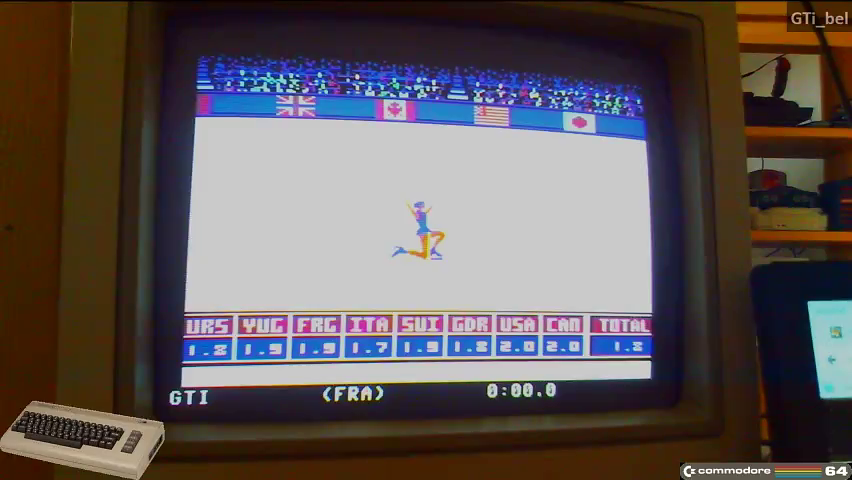 GTibel: Winter Games: Free Skating (Commodore 64) 18 points on 2016-11-06 06:37:48