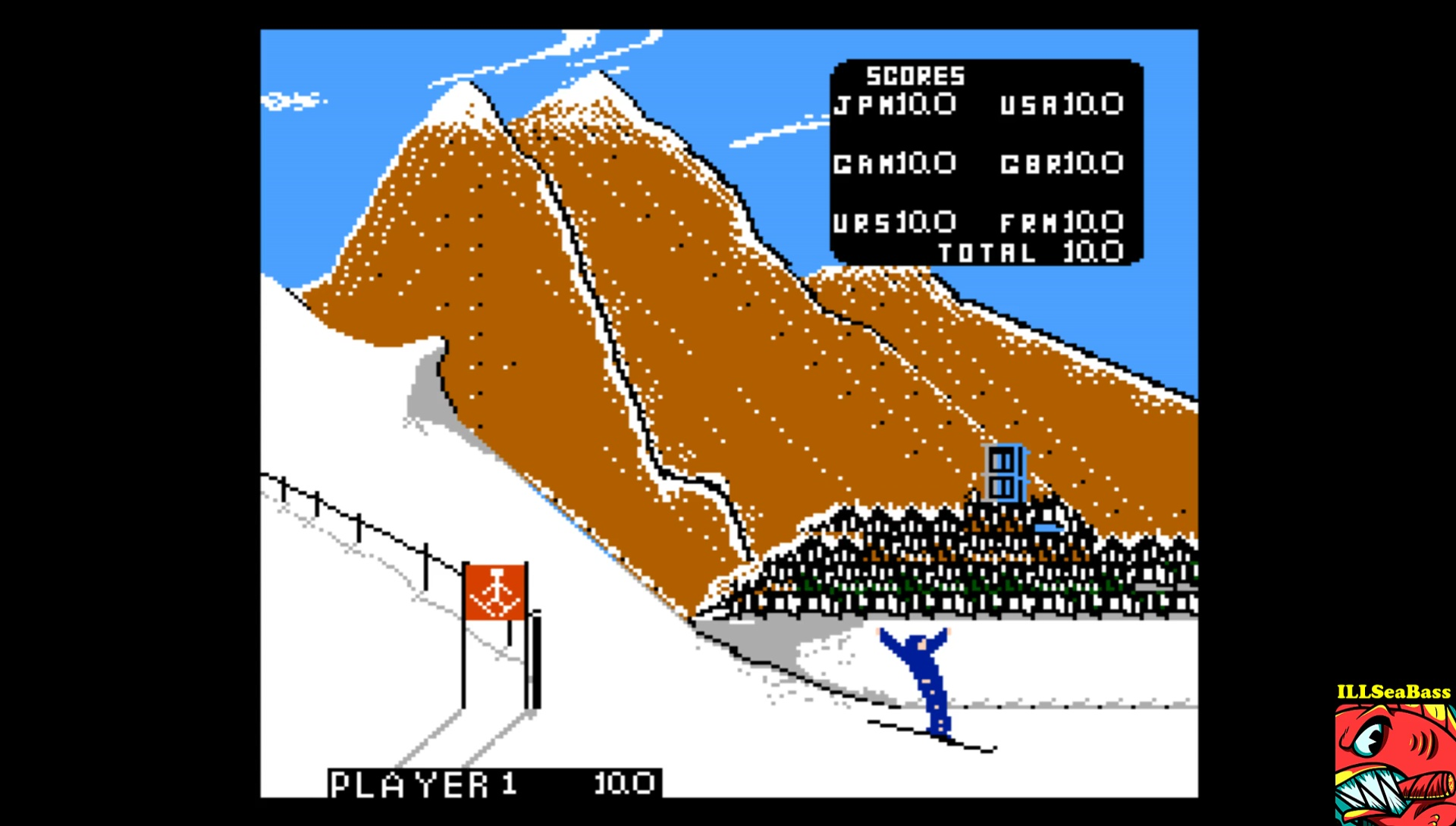 ILLSeaBass: Winter Games: Hot Dog Aerials (NES/Famicom Emulated) 100 points on 2017-03-30 23:21:41