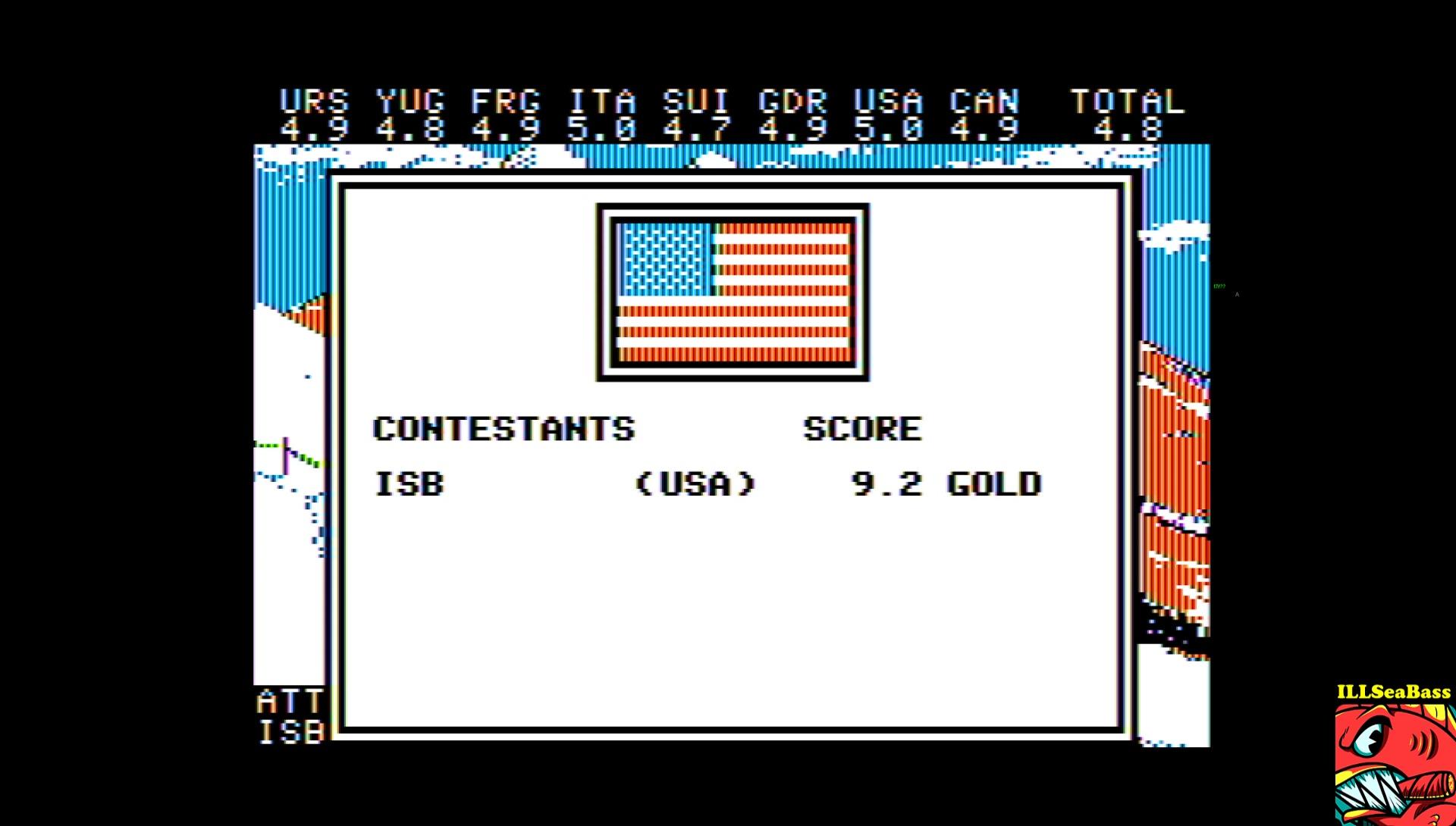 ILLSeaBass: Winter Games: Hot Dog (Apple II Emulated) 92 points on 2017-03-11 16:06:25