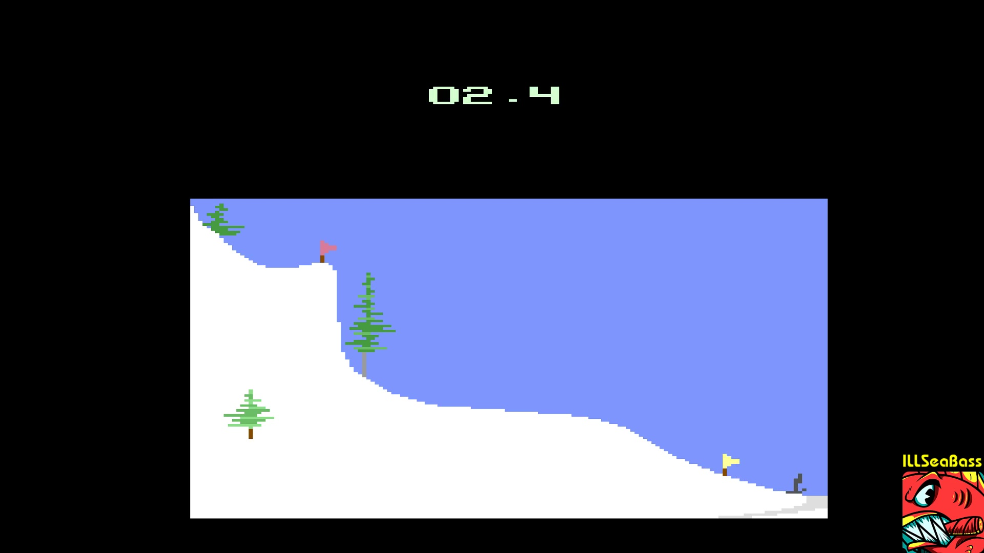 ILLSeaBass: Winter Games: Hot Dog (Atari 2600 Emulated) 24 points on 2017-12-29 12:37:41