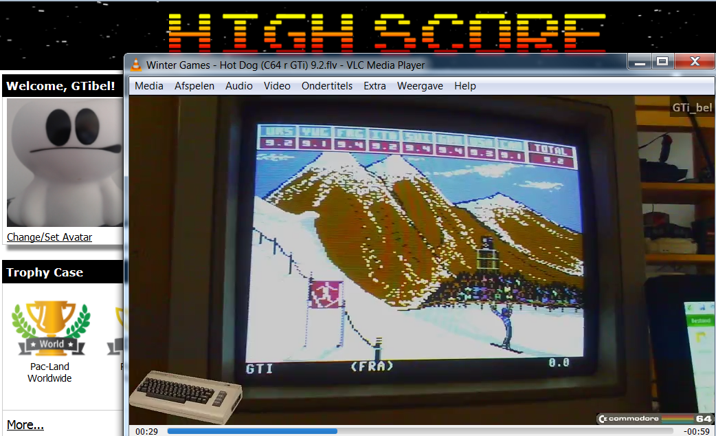 GTibel: Winter Games: Hot Dog (Commodore 64) 92 points on 2016-11-06 06:09:08