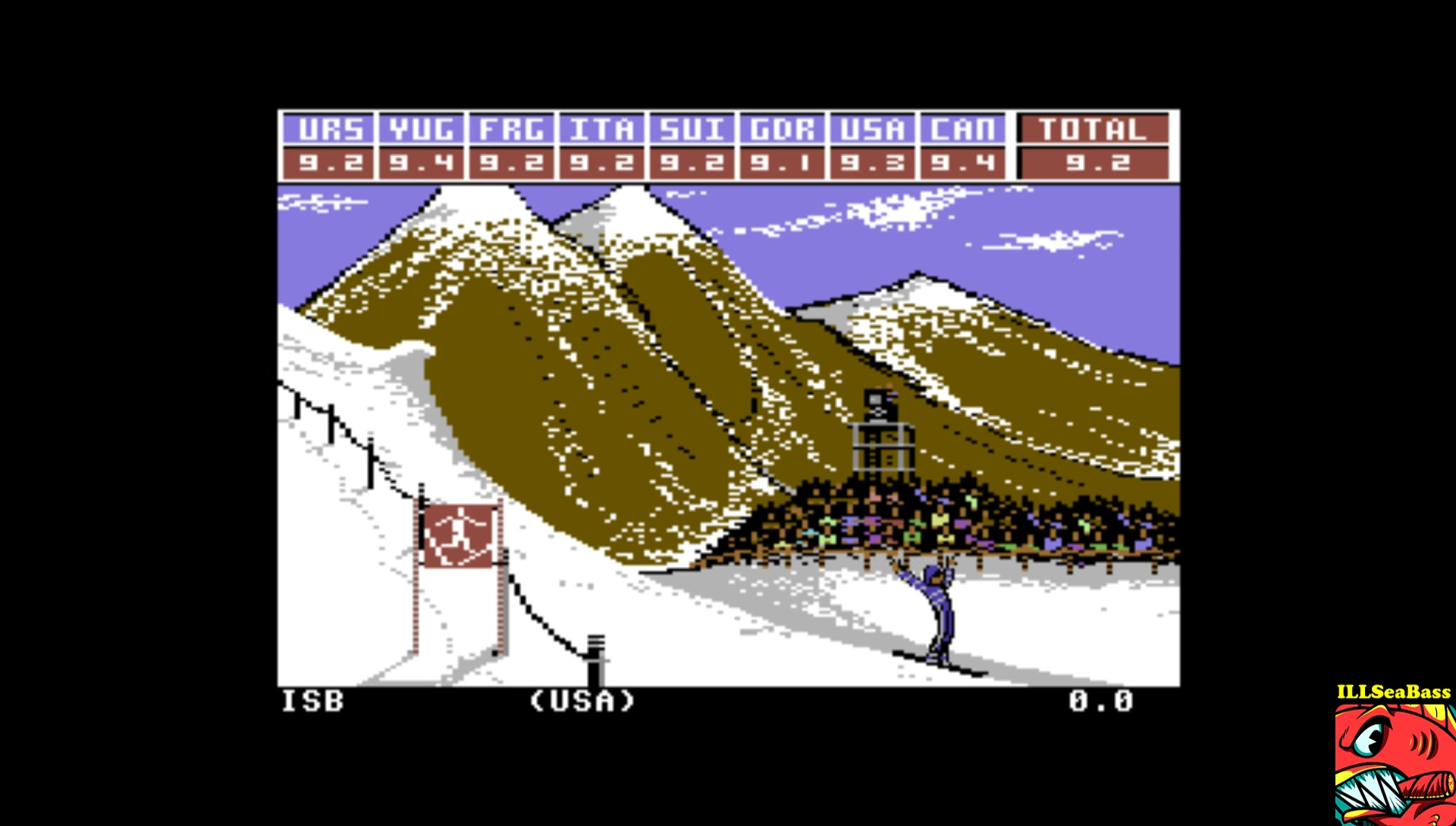ILLSeaBass: Winter Games: Hot Dog (Commodore 64 Emulated) 92 points on 2017-02-16 19:32:29