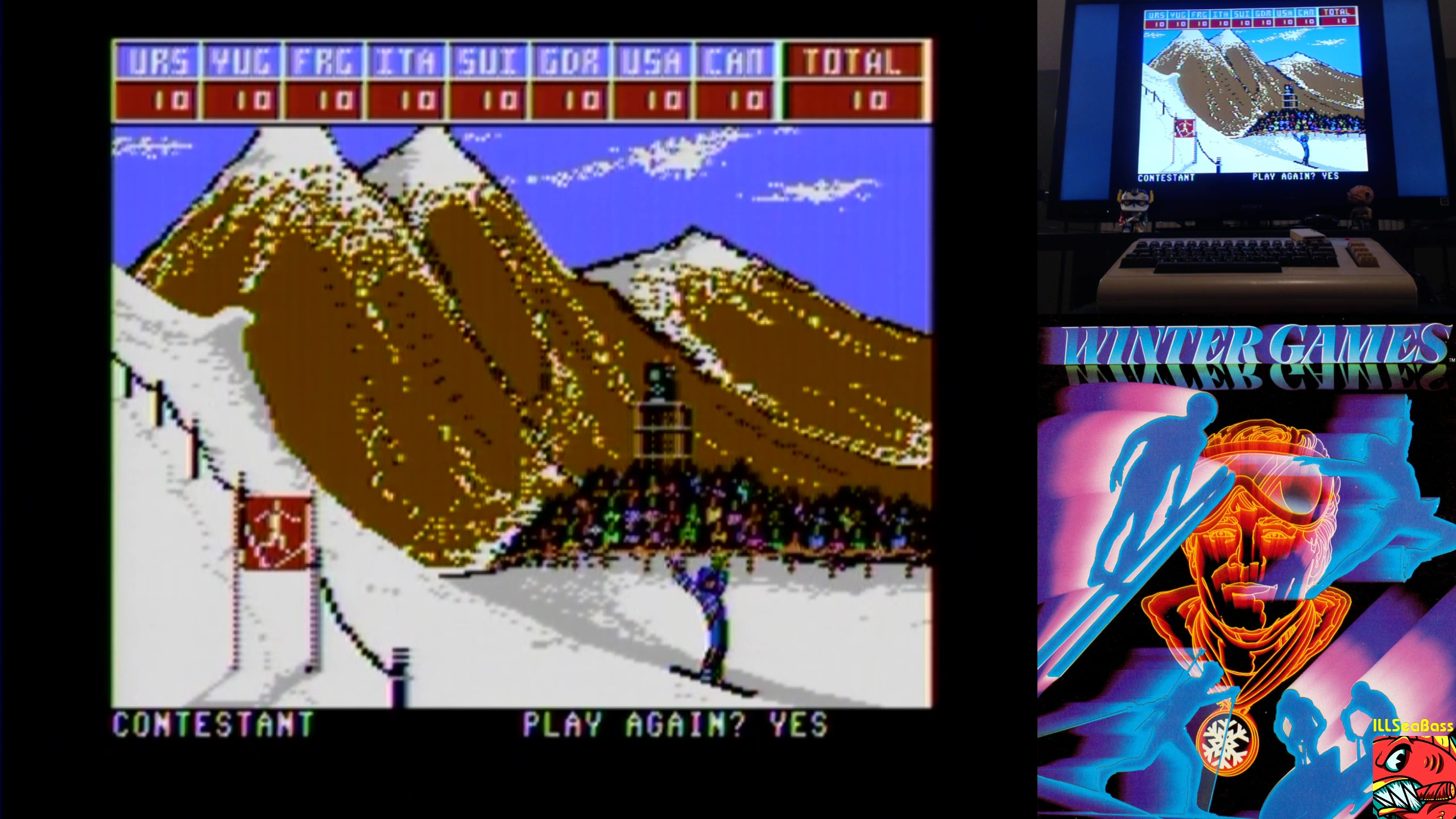 ILLSeaBass: Winter Games: Hot Dog (Commodore 64) 100 points on 2018-02-26 22:48:37