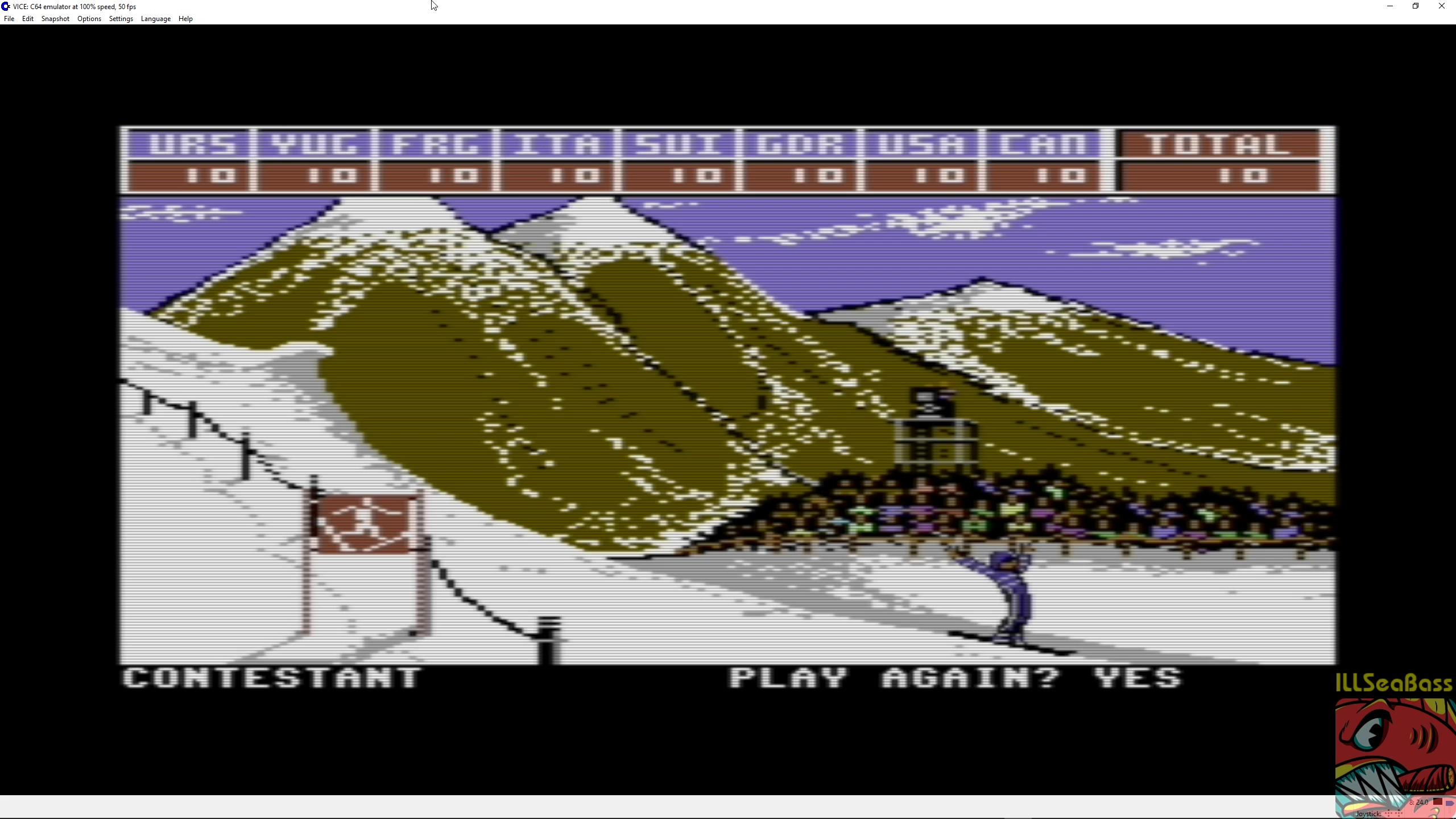 ILLSeaBass: Winter Games: Hot Dog (Commodore 64 Emulated) 100 points on 2018-03-26 17:30:48