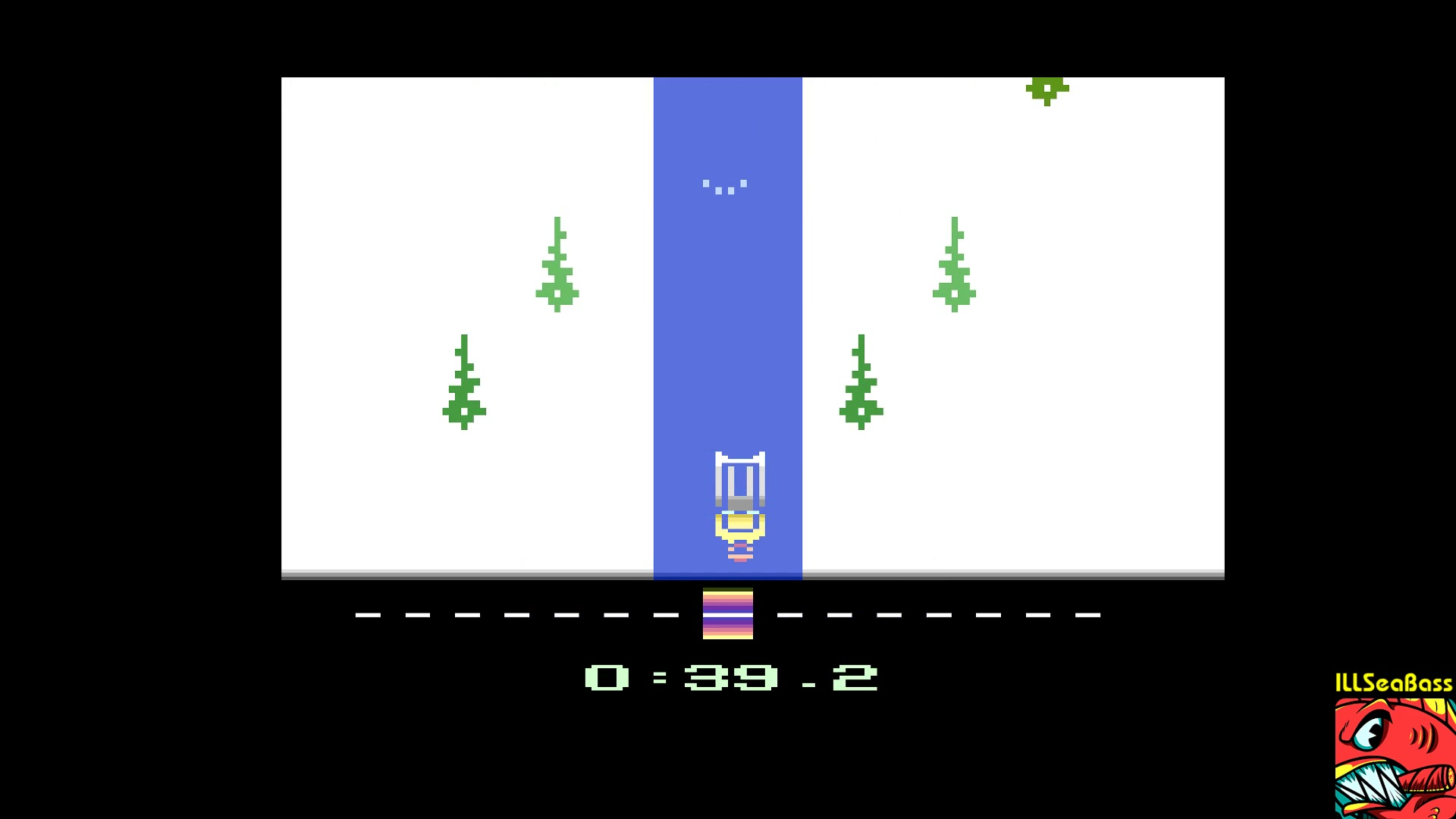 ILLSeaBass: Winter Games: Luge [Best Time] (Atari 2600 Emulated) 0:00:39.2 points on 2017-12-29 12:38:20