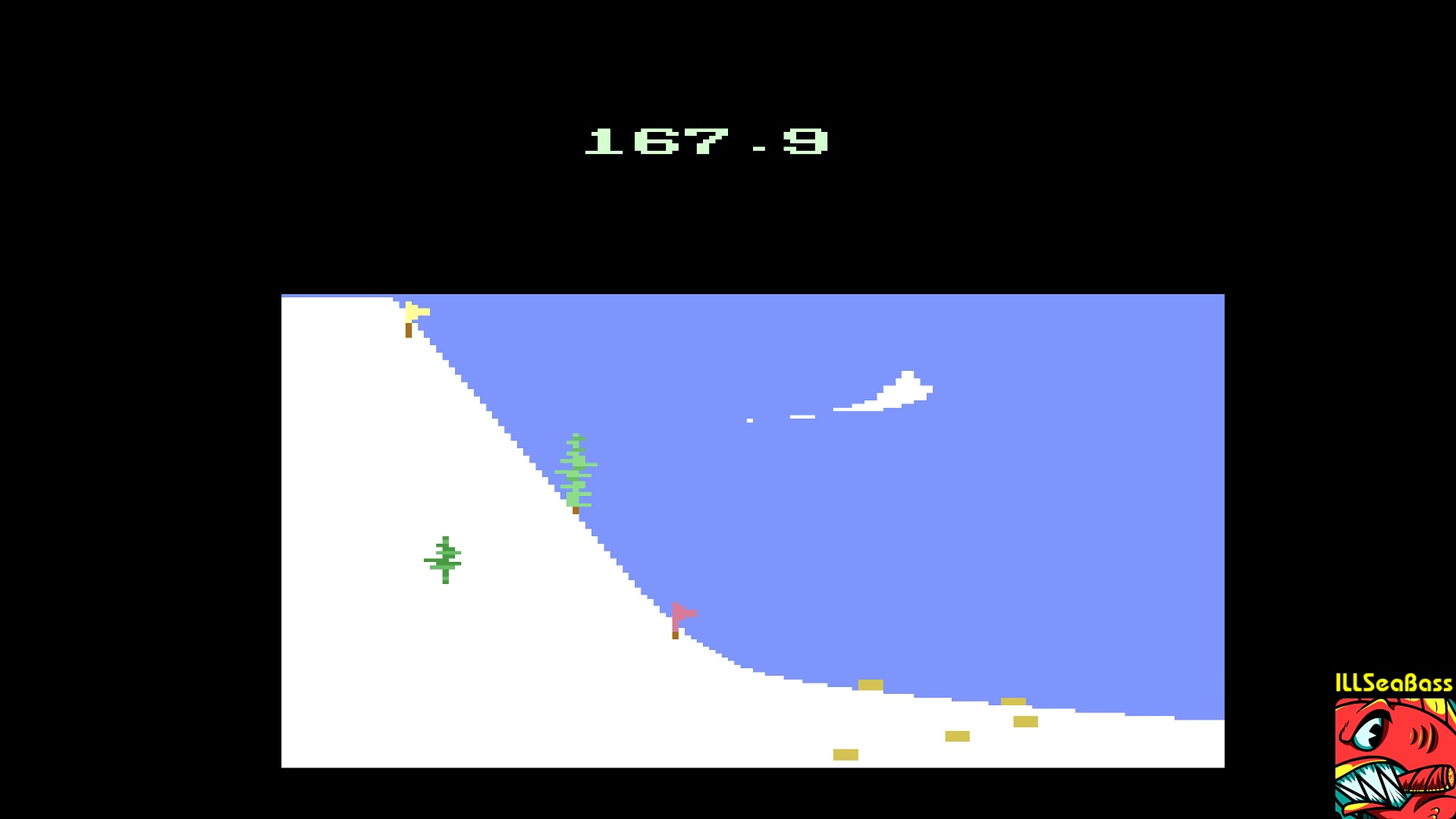 ILLSeaBass: Winter Games: Ski Jump (Atari 2600 Emulated) 1,679 points on 2017-12-29 12:35:25