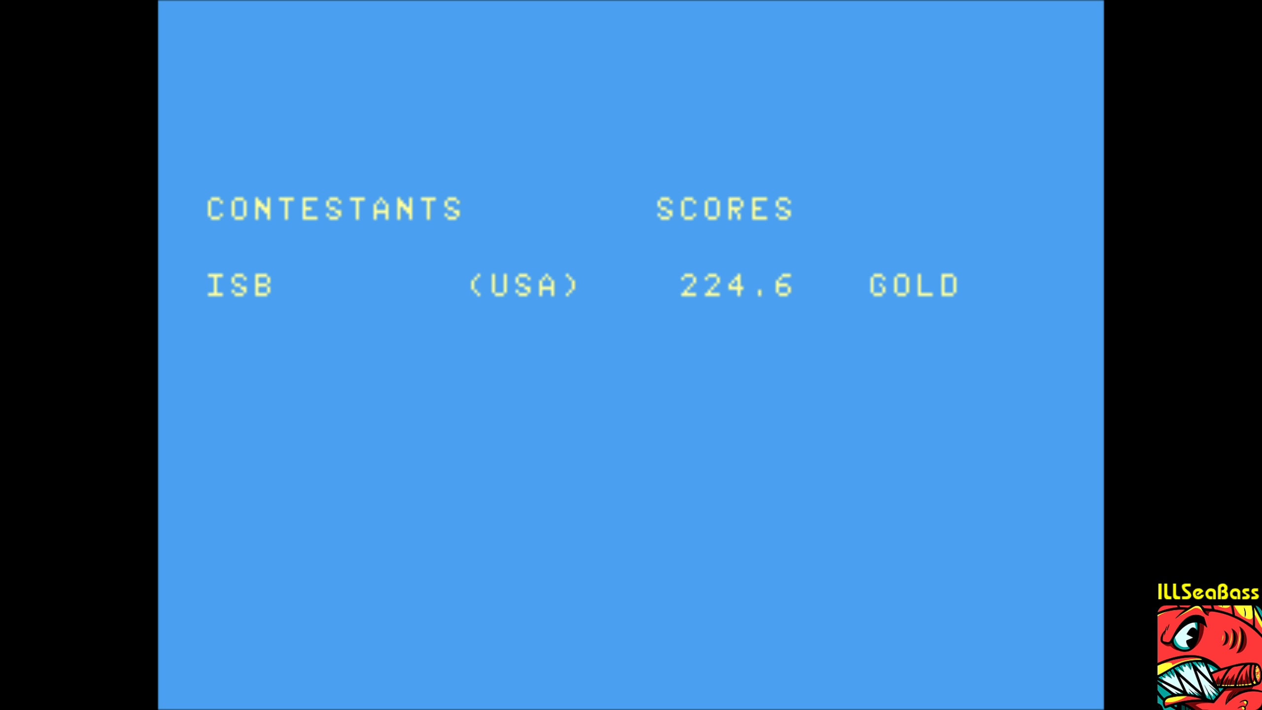 ILLSeaBass: Winter Games: Ski Jump (Atari 7800 Emulated) 224 points on 2018-02-10 12:07:18