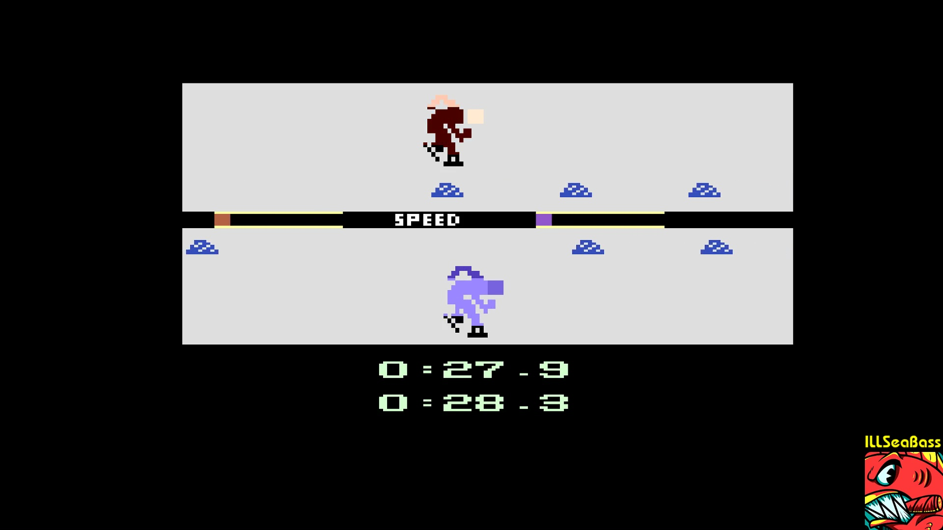 ILLSeaBass: Winter Games: Speed Skating [Best Time] (Atari 2600 Emulated) 0:00:27.9 points on 2017-12-29 12:41:59