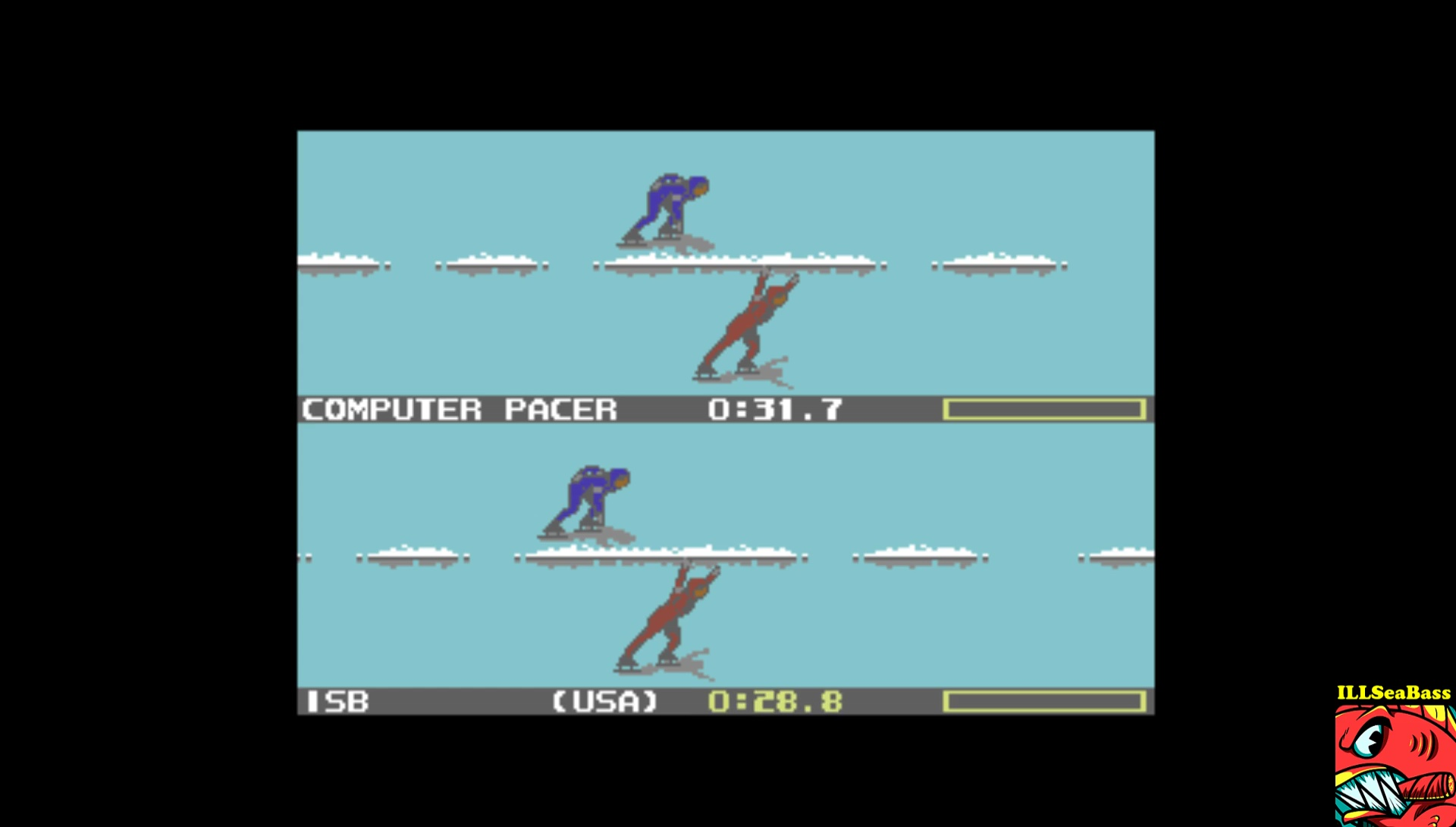 ILLSeaBass: Winter Games: Speed Skating (Commodore 64 Emulated) 0:00:28.8 points on 2017-02-16 20:21:36