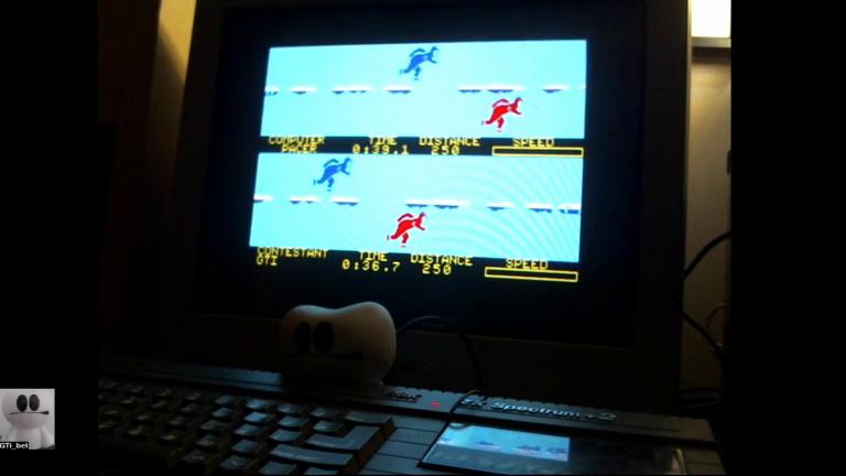 GTibel: Winter Games [Speed Skating] (ZX Spectrum) 0:00:36.7 points on 2017-12-08 10:45:45