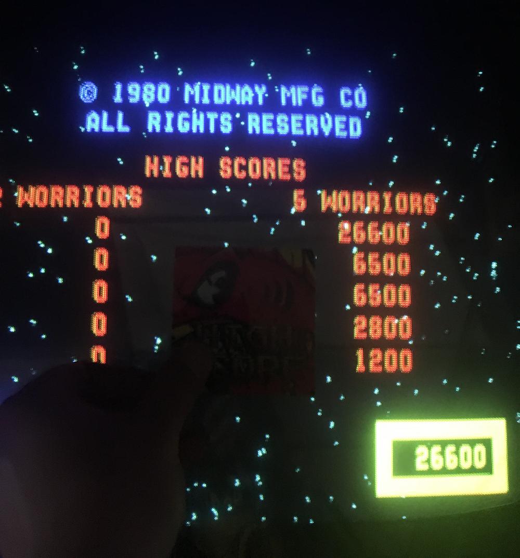 ILLSeaBass: Wizard of Wor (Arcade) 26,600 points on 2017-03-12 19:06:29
