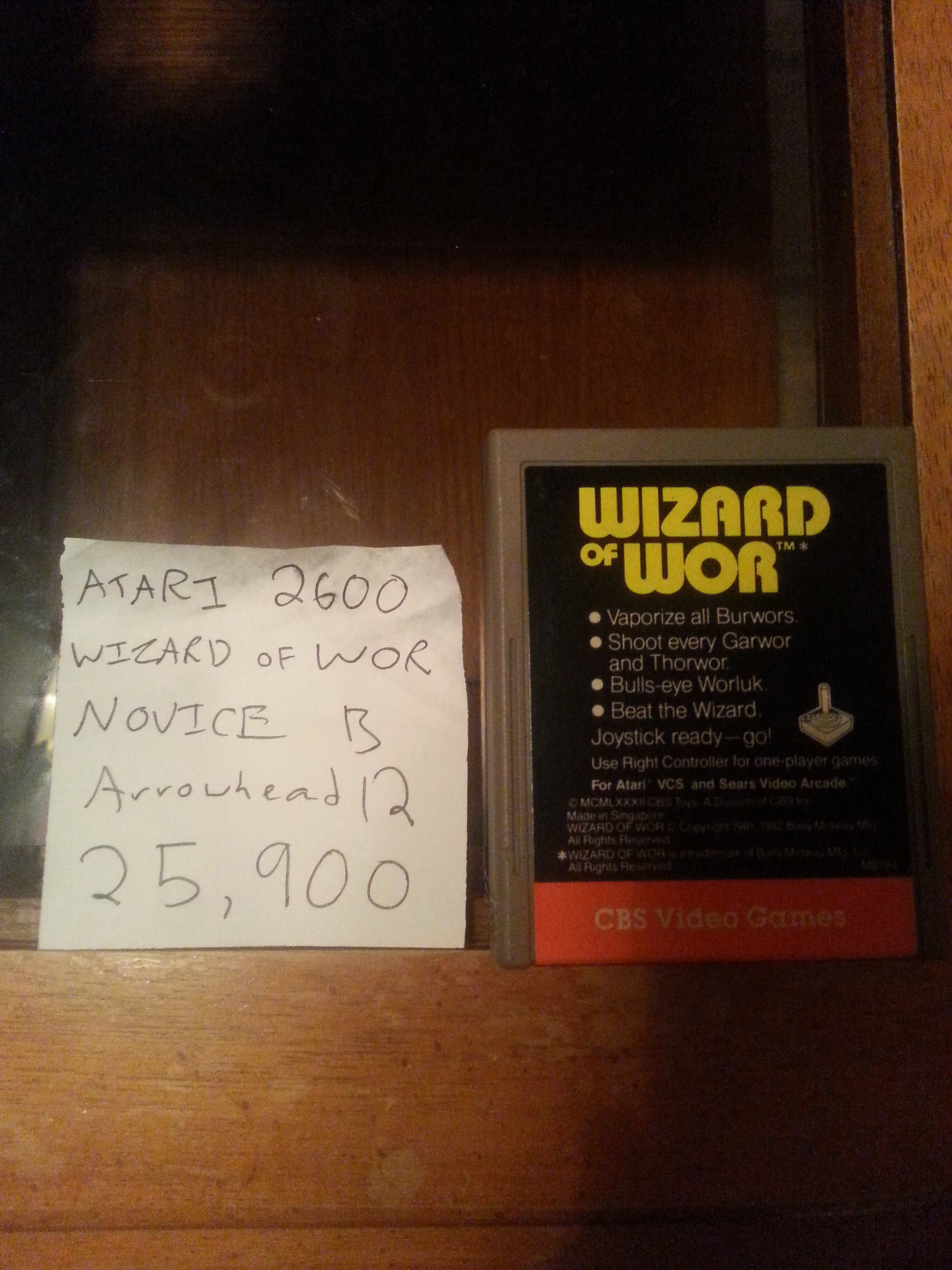 Arrowhead12: Wizard of Wor (Atari 2600 Novice/B) 25,900 points on 2018-09-29 17:04:26