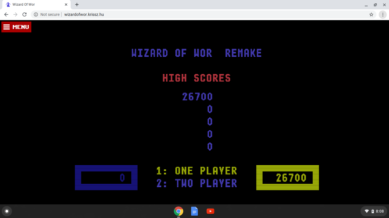 Wizard of Wor 26,700 points
