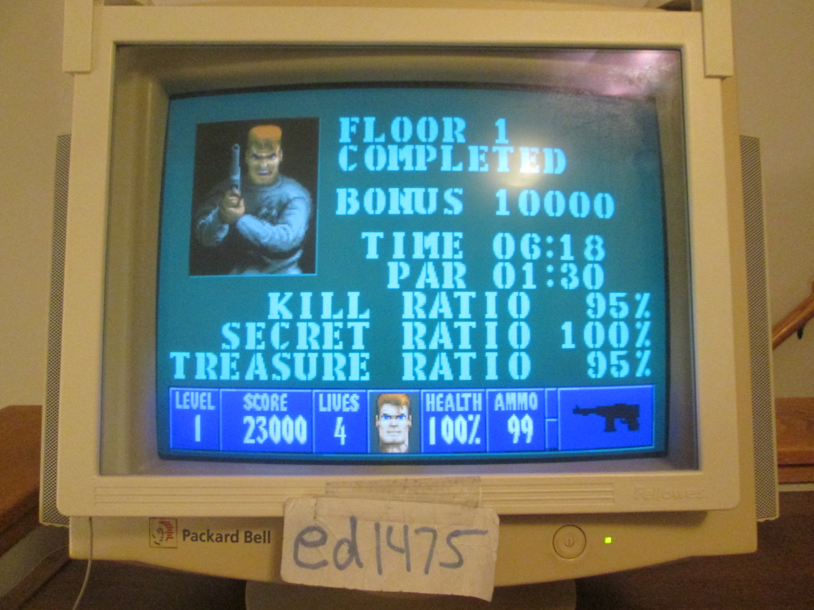 ed1475: Wolfenstein 3-D [Default settings] (PC) 31,300 points on 2016-10-25 23:13:59