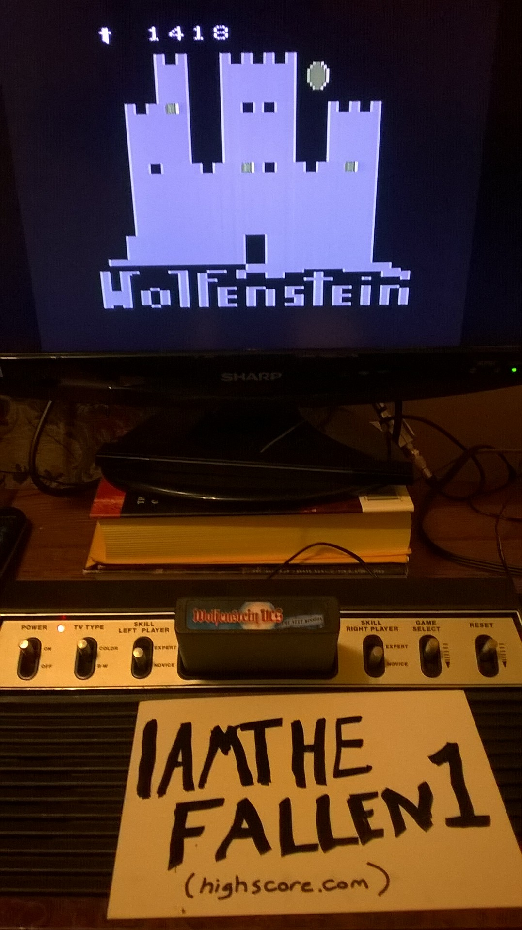 iamthefallen1: Wolfenstein VCS (Atari 2600 Novice/B) 1,418 points on 2017-03-07 15:42:08
