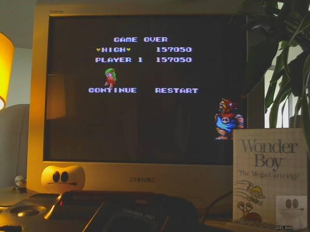 GTibel: Wonder Boy (Sega Master System) 157,050 points on 2019-09-07 08:05:53